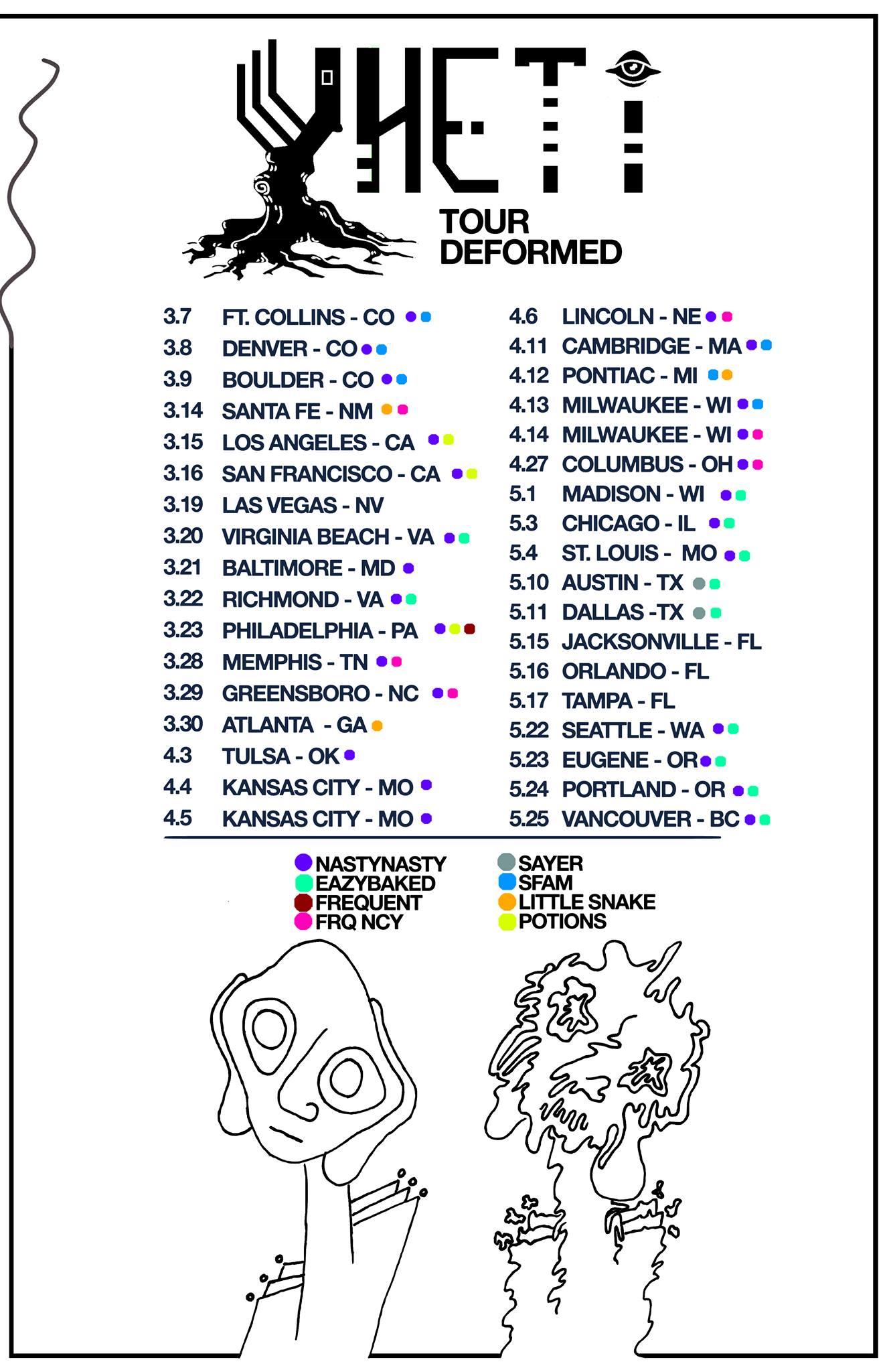 Yheti Tour Deformed Poster