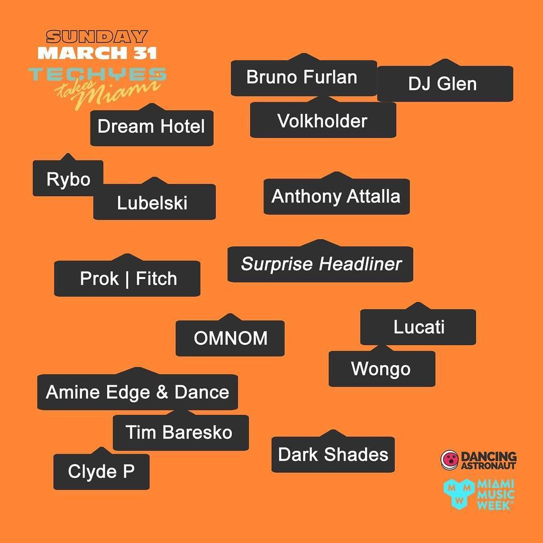 Techyes Takes Miami 2019 Lineup