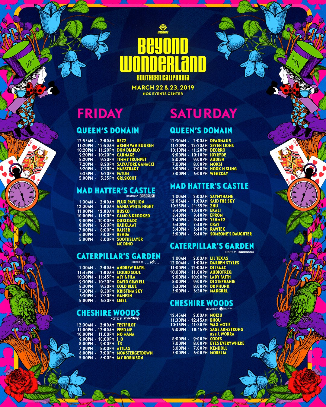 Beyond Wonderland Time Slots