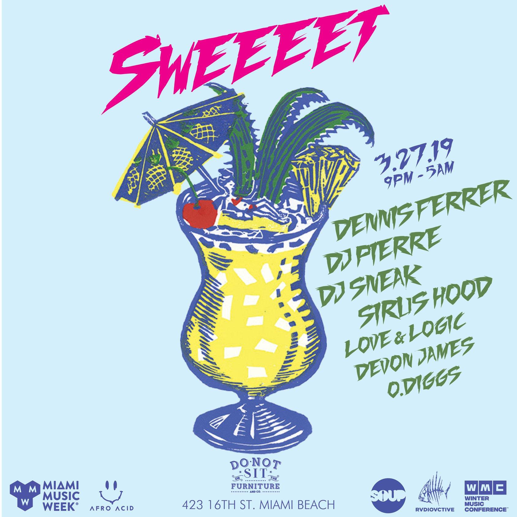 Sweeeet Miami Music Week 2019 - Lineup Flyer