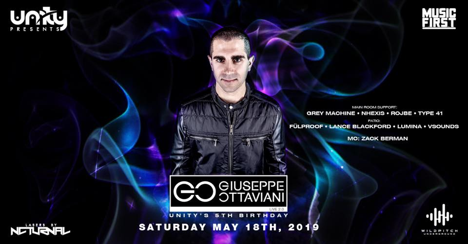 Unity Events 5th Birthday featuring Giuseppe Ottaviani LIVE 2.0