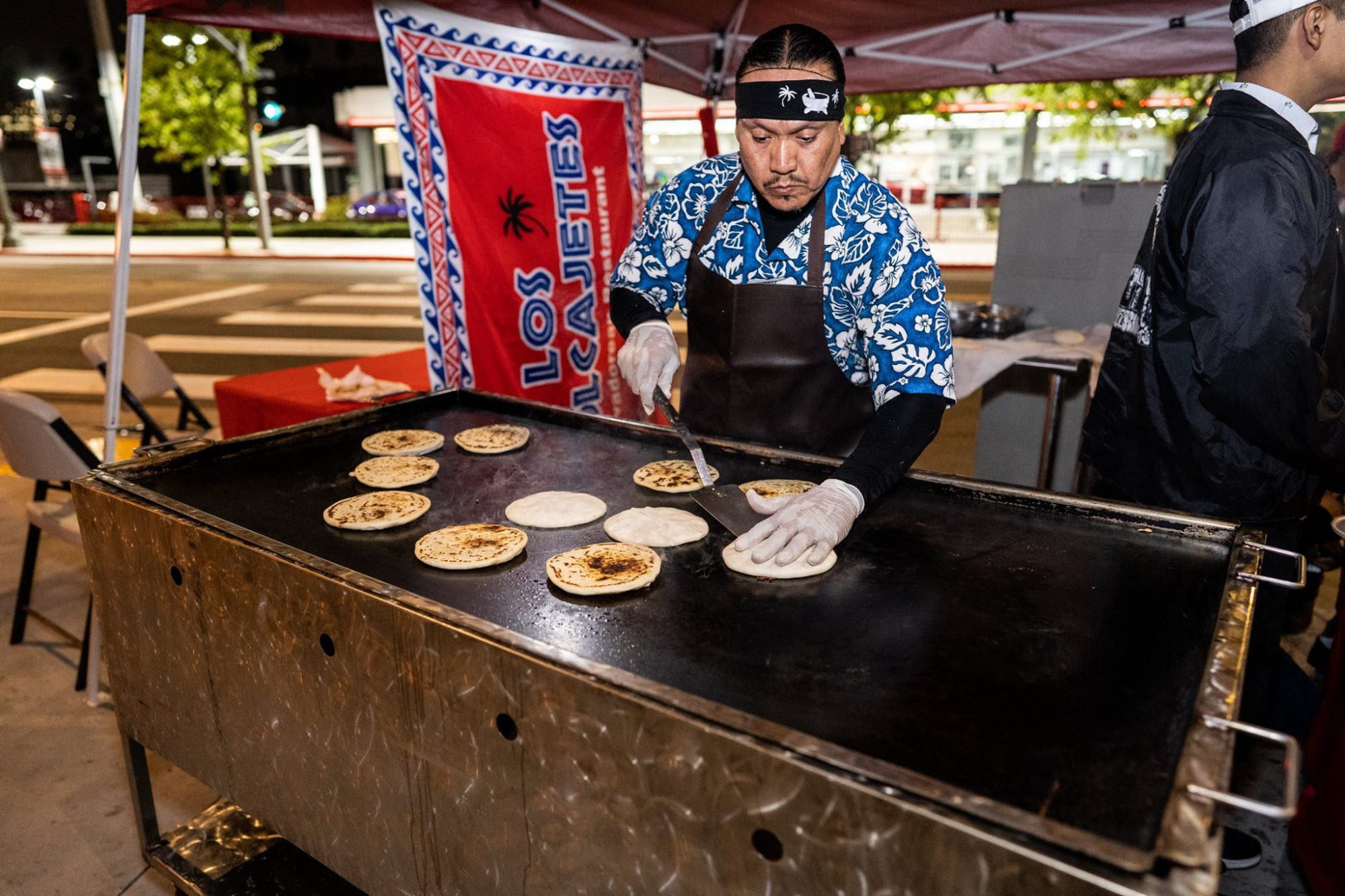 Pupusas Outside Academy LA Ravell & Friends
