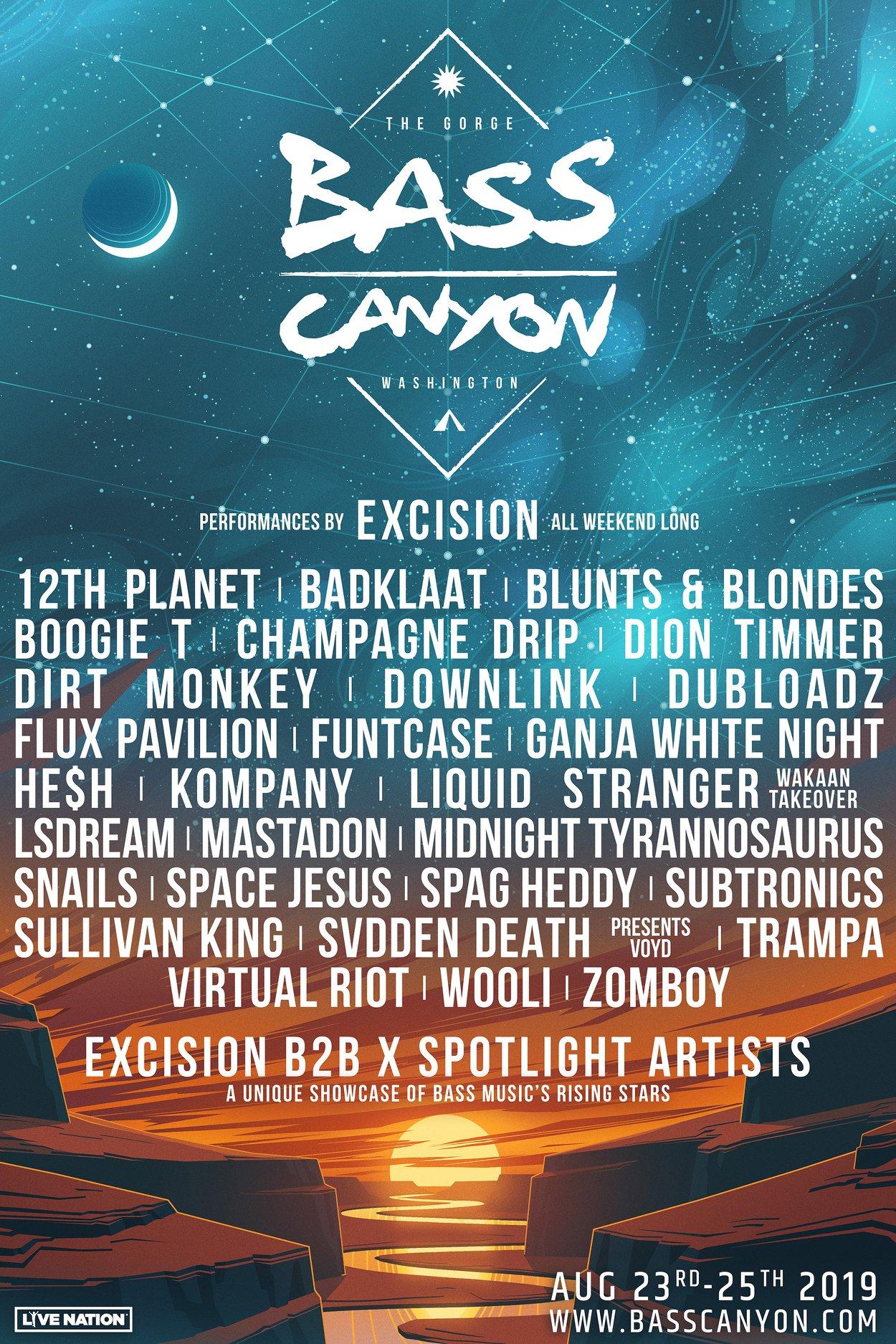 Bass Canyon 2019 Lineup