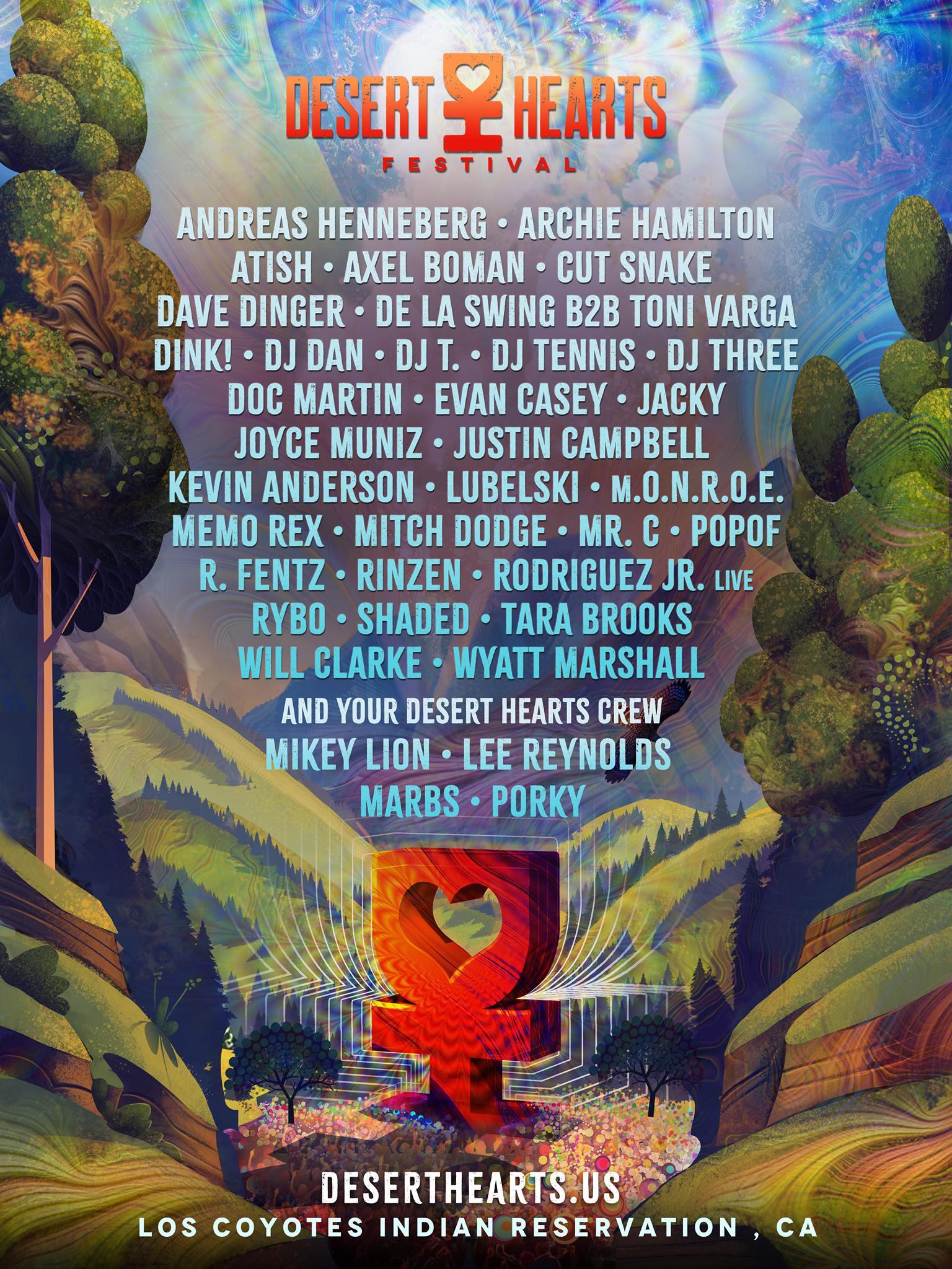 Desert Hearts Festival 2019 Lineup