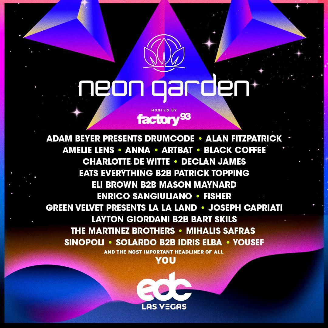EDC Las Vegas 2019 Lineup - neonGARDEN