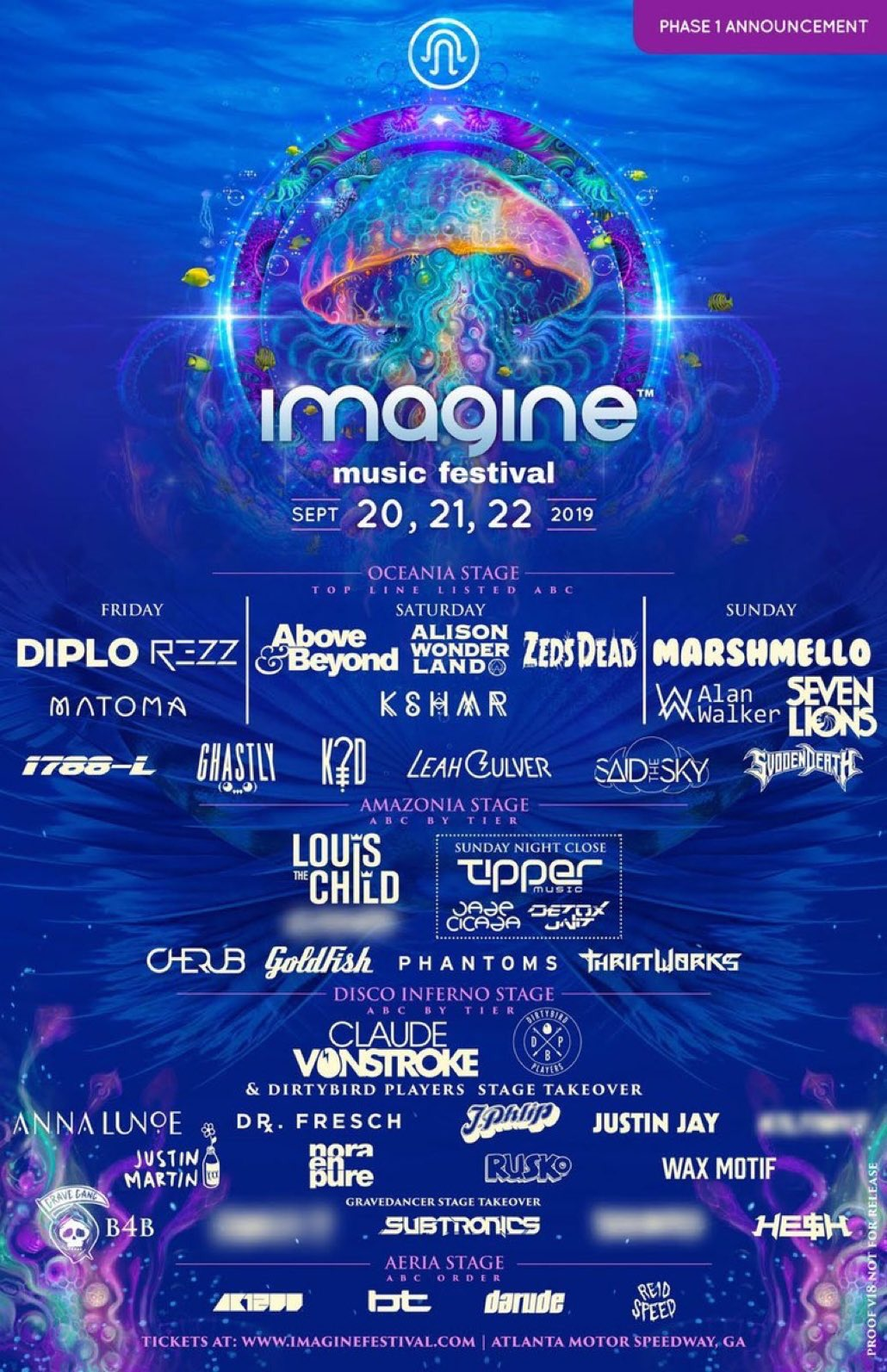 Imagine Music Festival 2019 Phase 1 Lineup