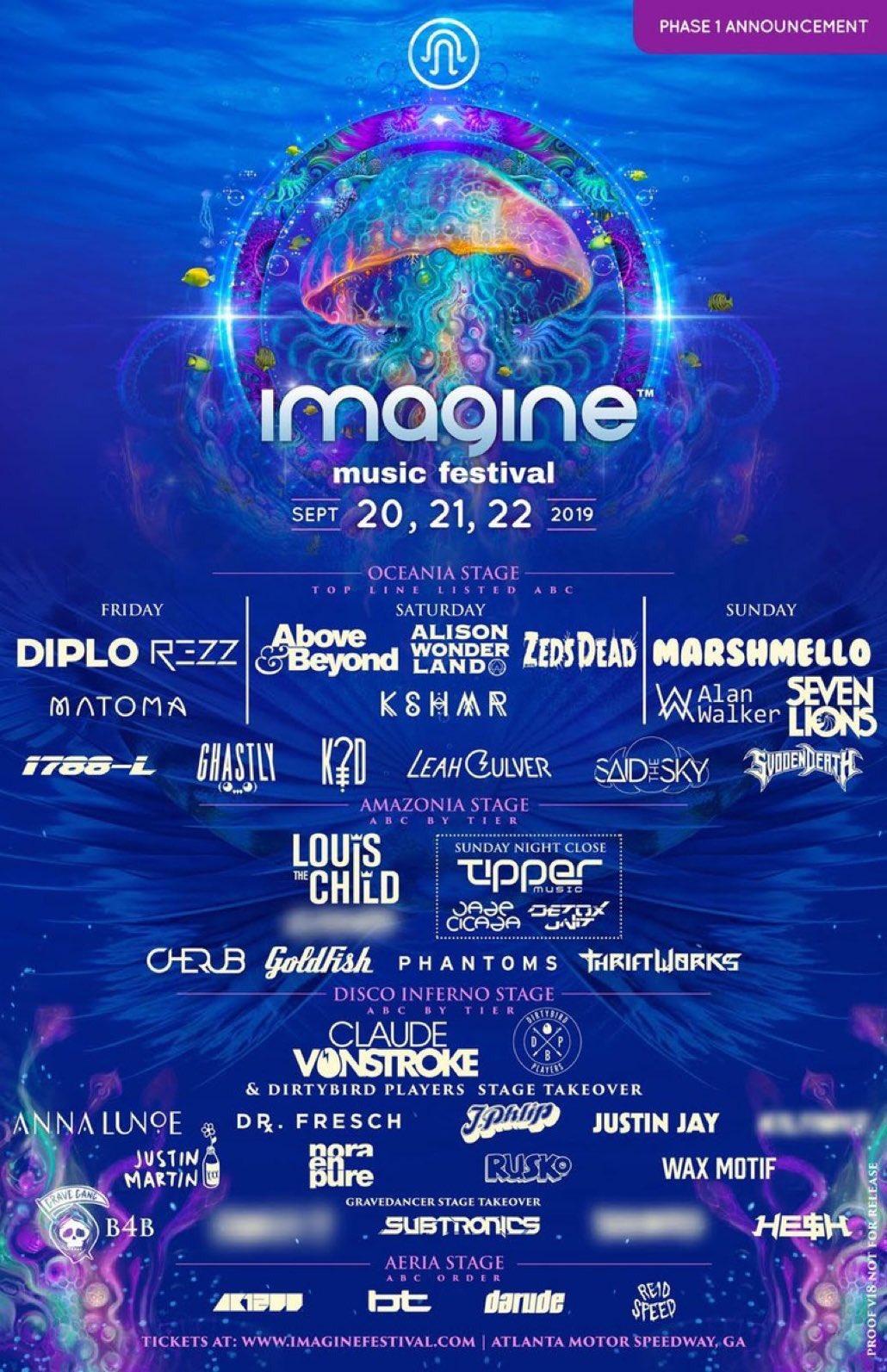 Imagine Music Festival 2019 Phase 1 Lineup
