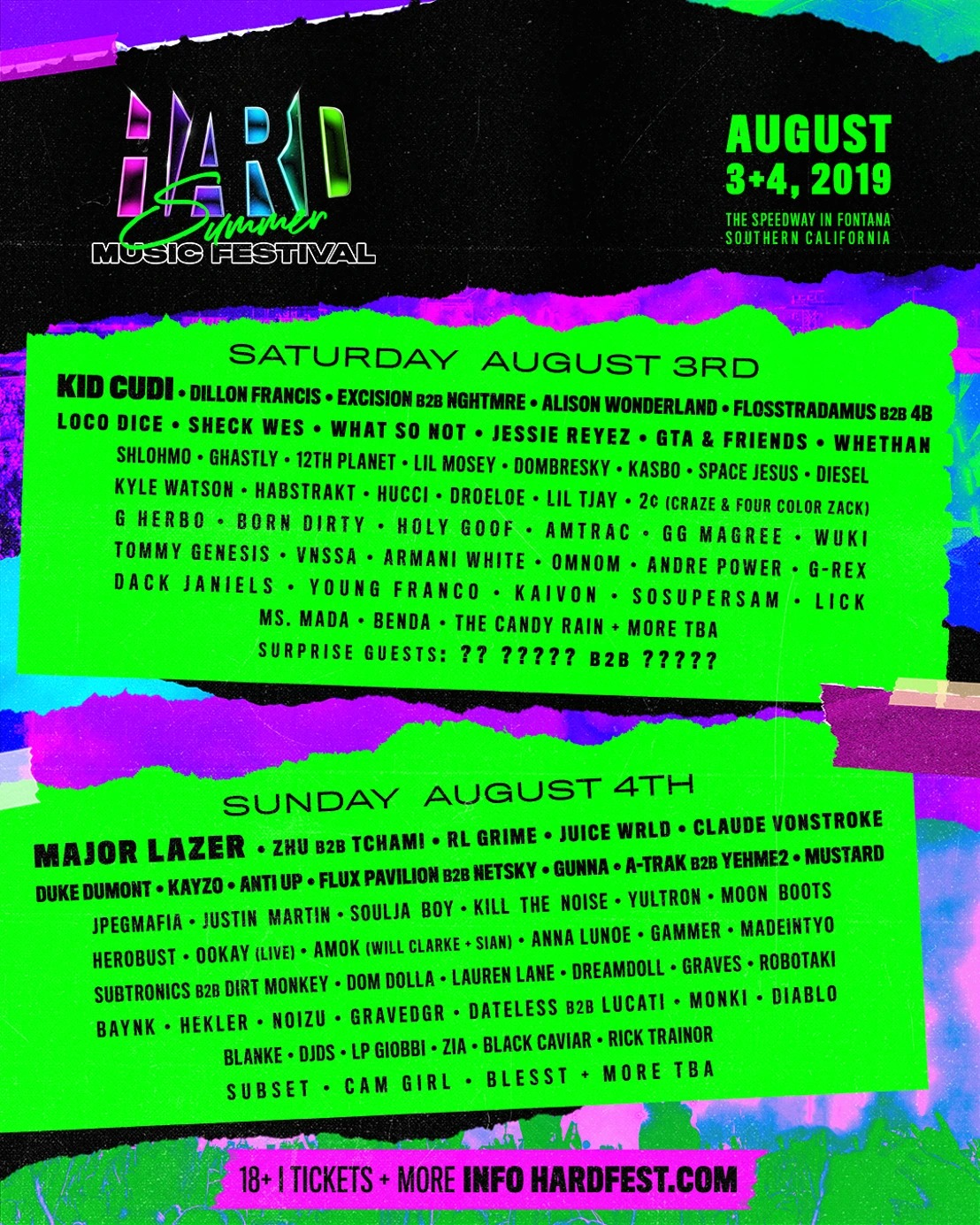 HARD Summer Music Festival 2019 Lineup