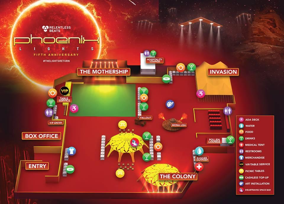 Phoenix Lights 2019 Festival Map