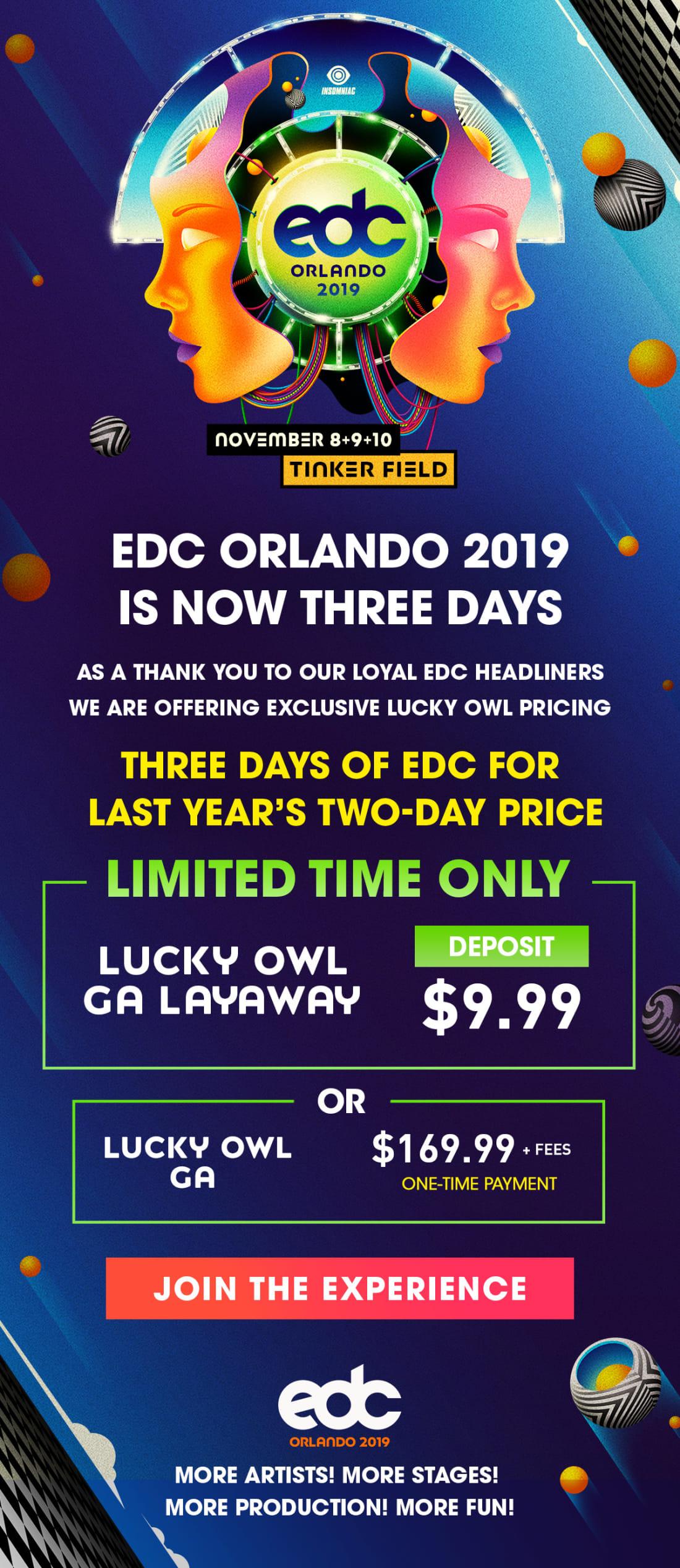 EDC Orlando 2019 Lucky Owl
