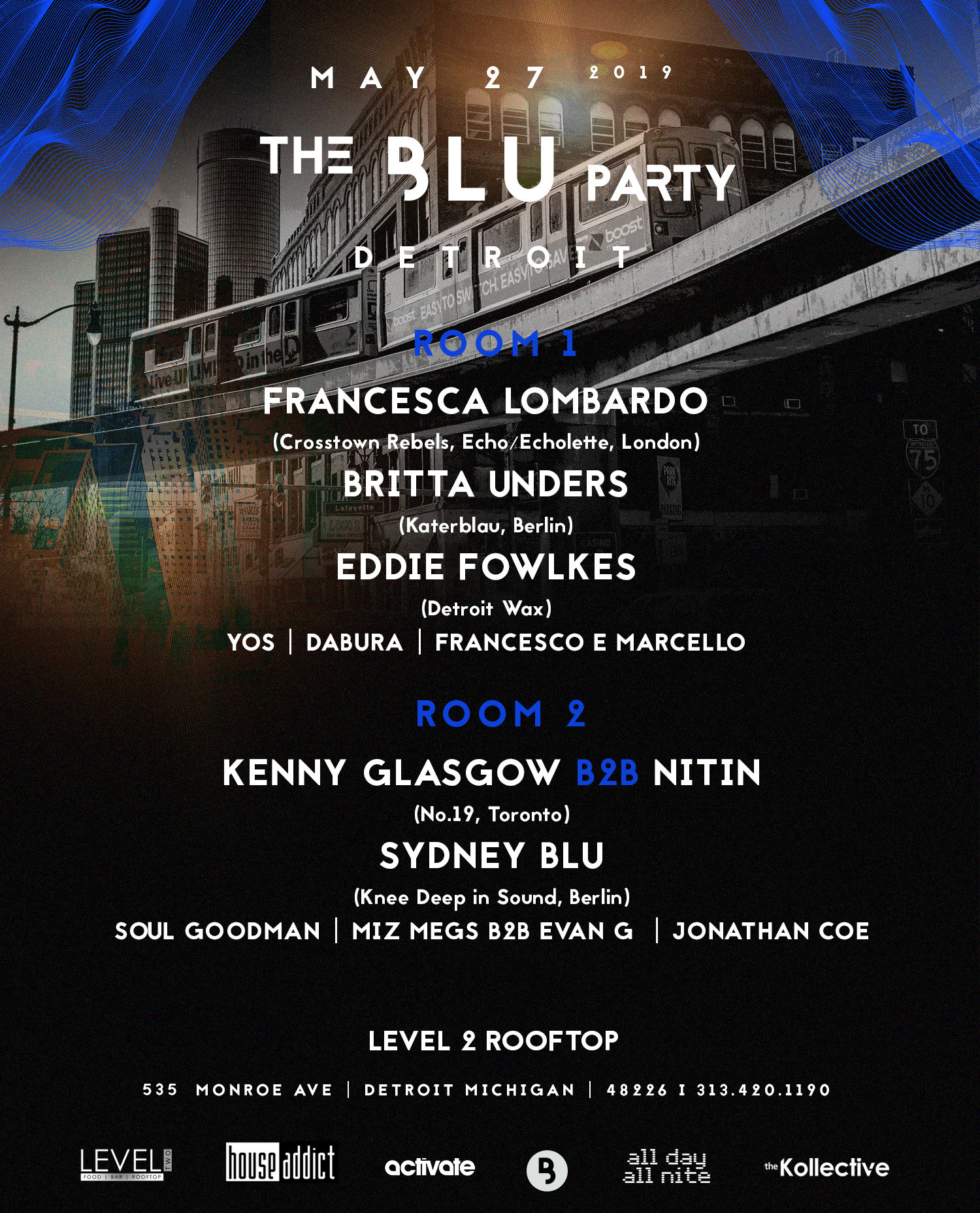 The Blu Party Detroit 2019 Lineup