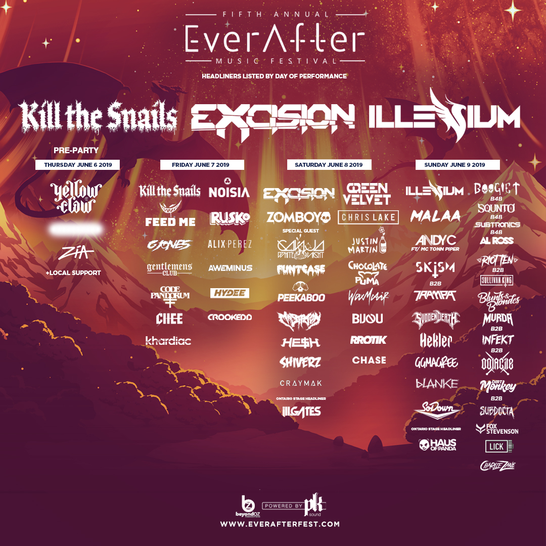 Ever After Music Festival 2019 Lineup By Day