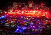 EDC Las Vegas 2019 - Aerial - Day 01 Fireworks