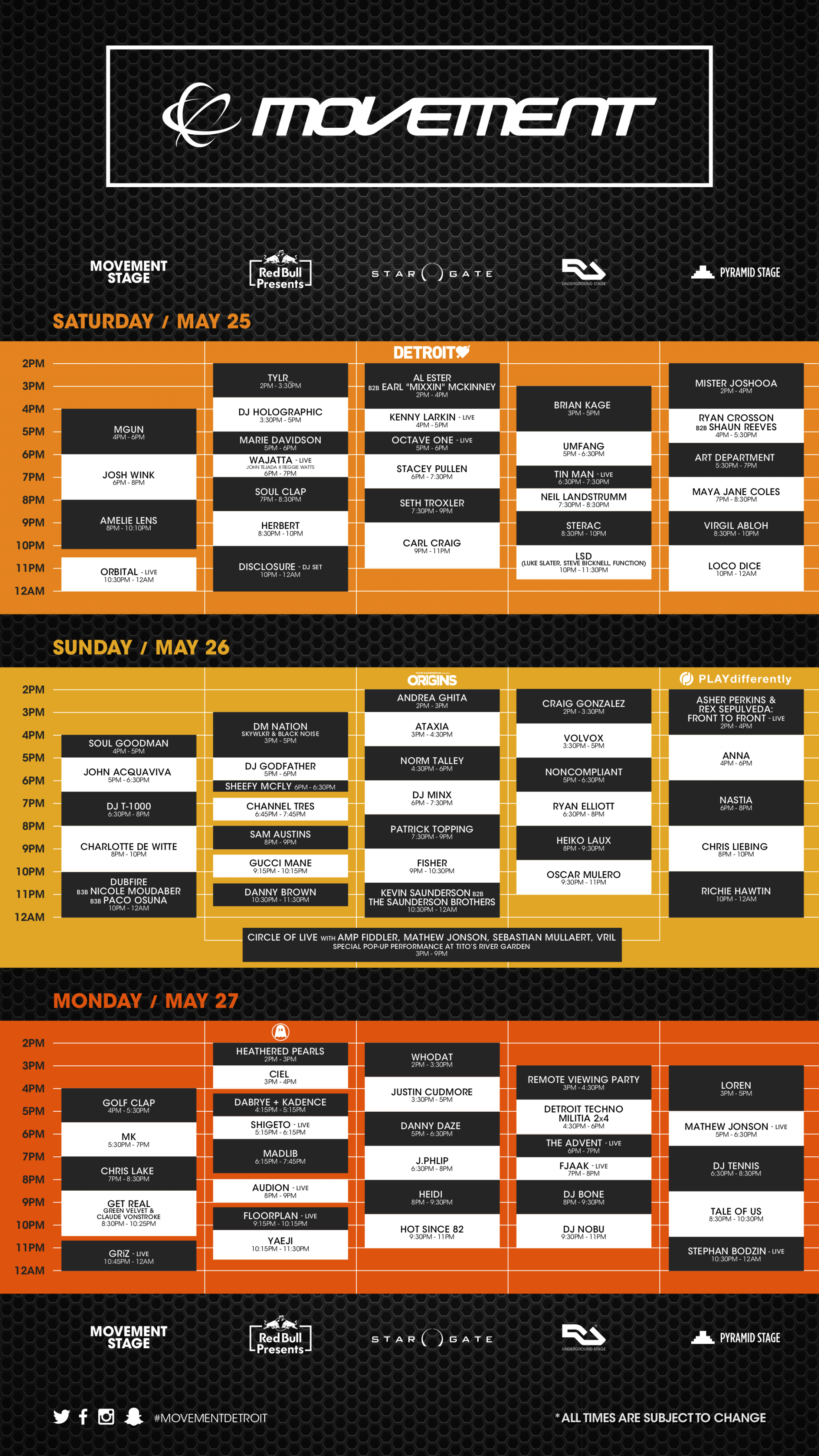 Movement 2019 Schedule