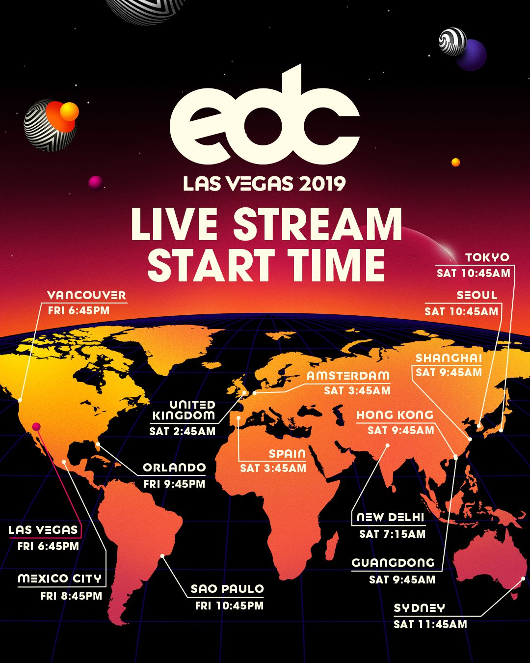 EDC Las Vegas 2019 Live Stream Start Time