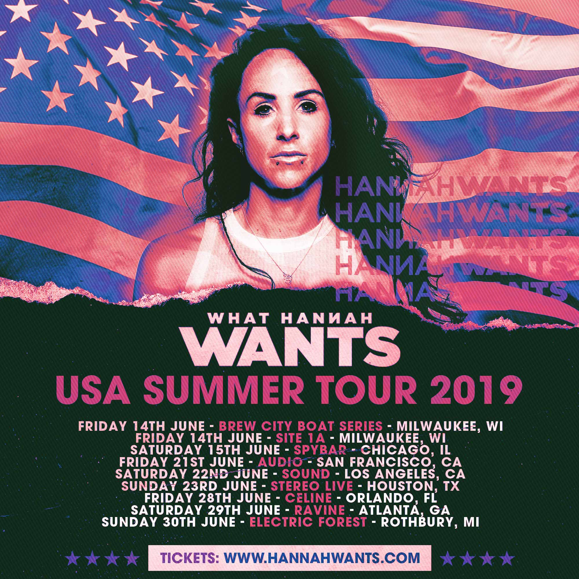 Hannah Wants USA Summer Tour 2019