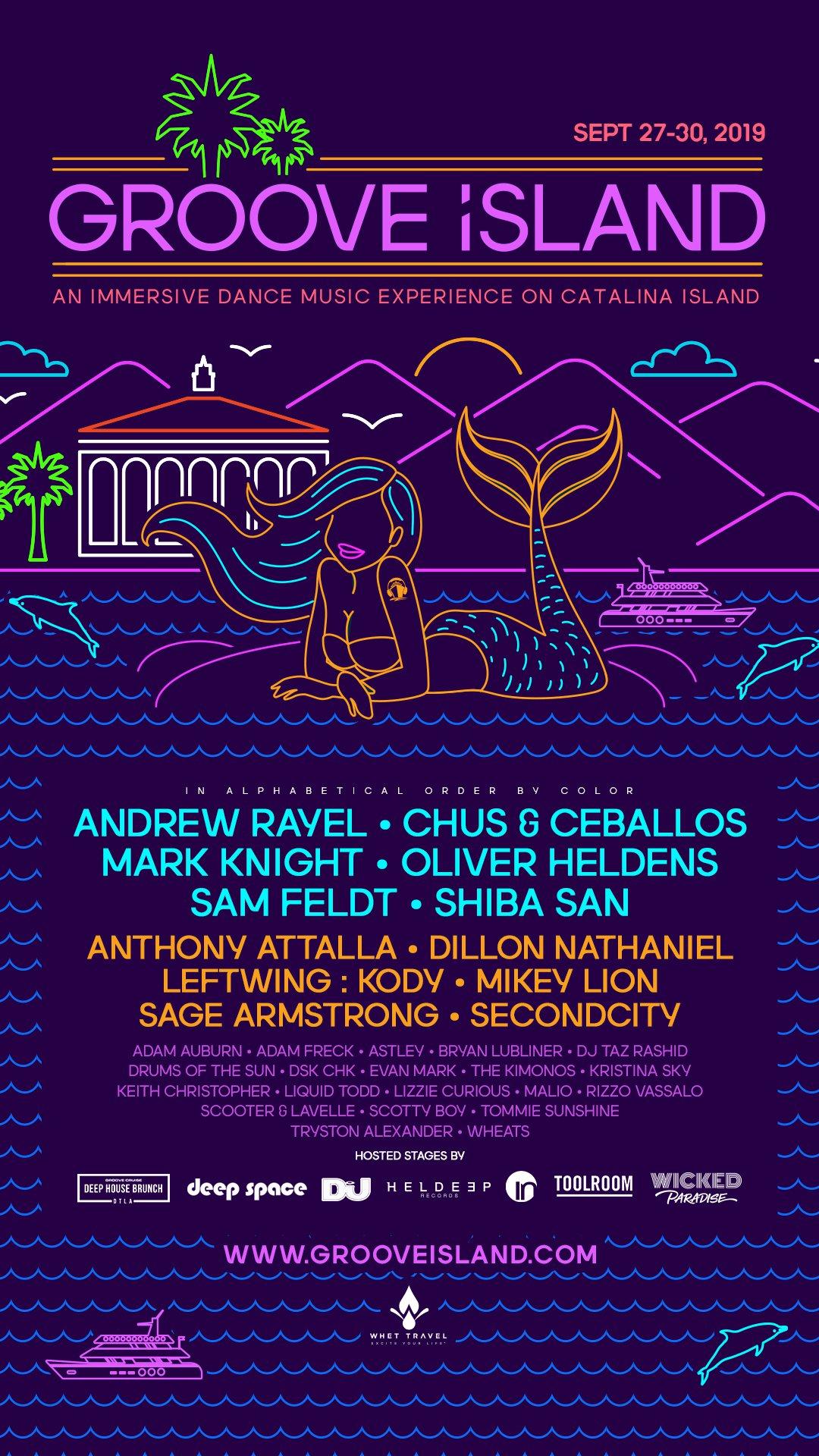 Groove Island 2019 Lineup