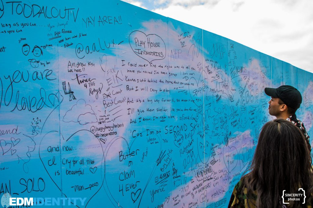 Second Sky Festival 2019 Writing Wall