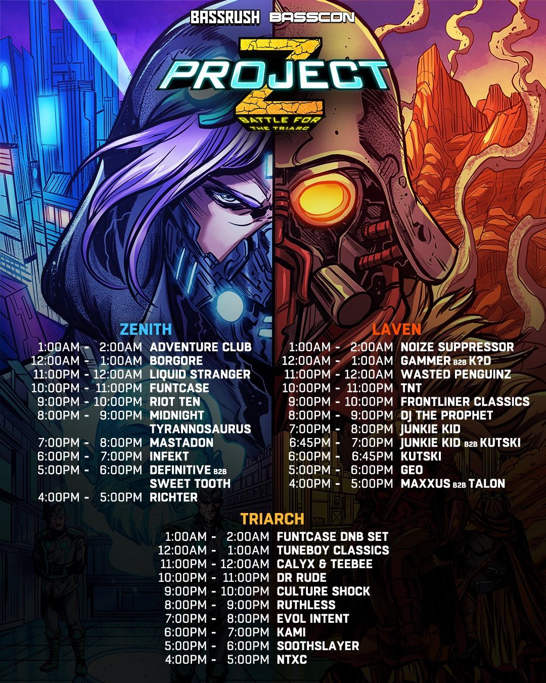 Project Z 2019 Set Times