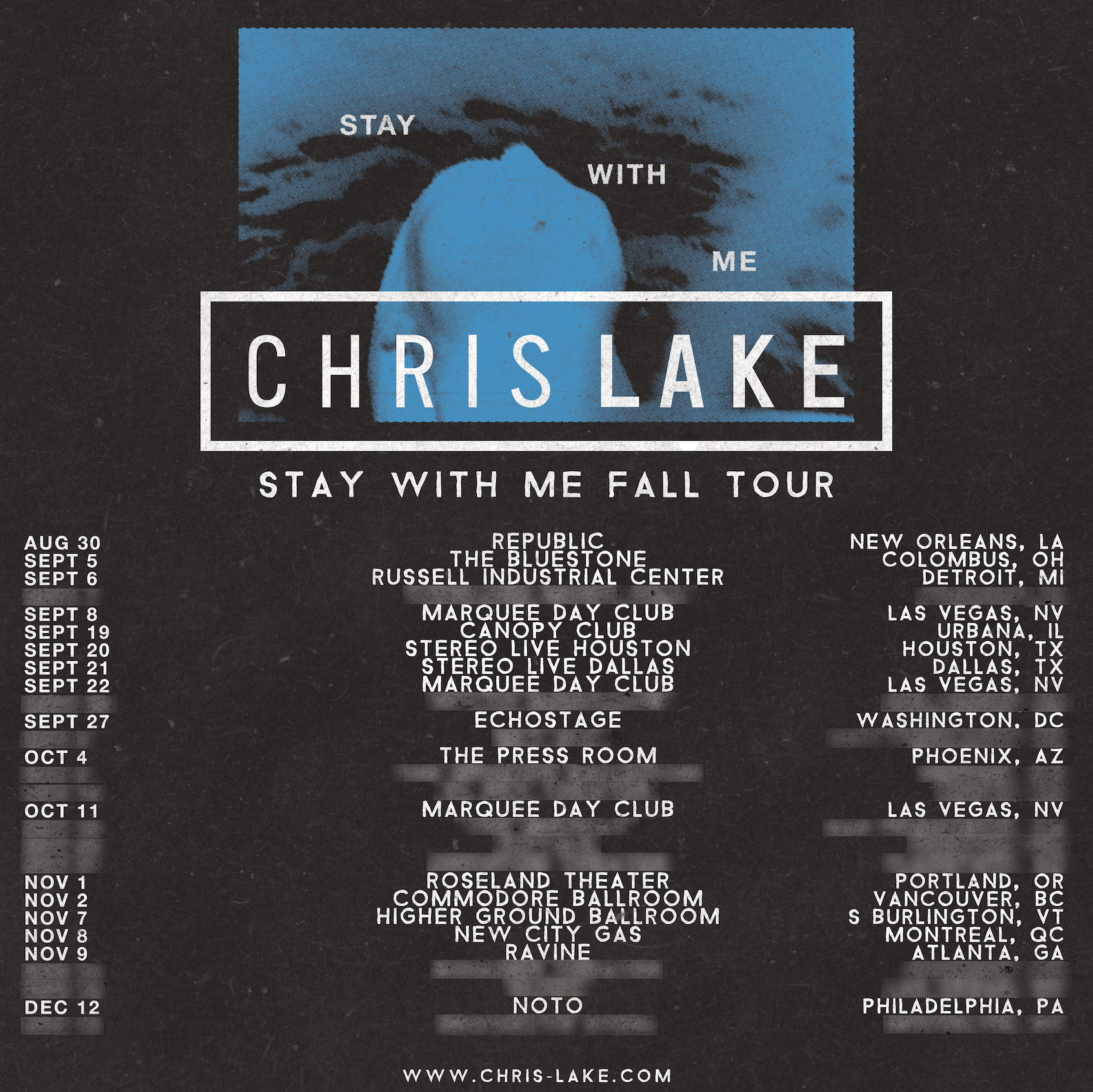 Chris Lake Stay With Me Fall Tour 2019