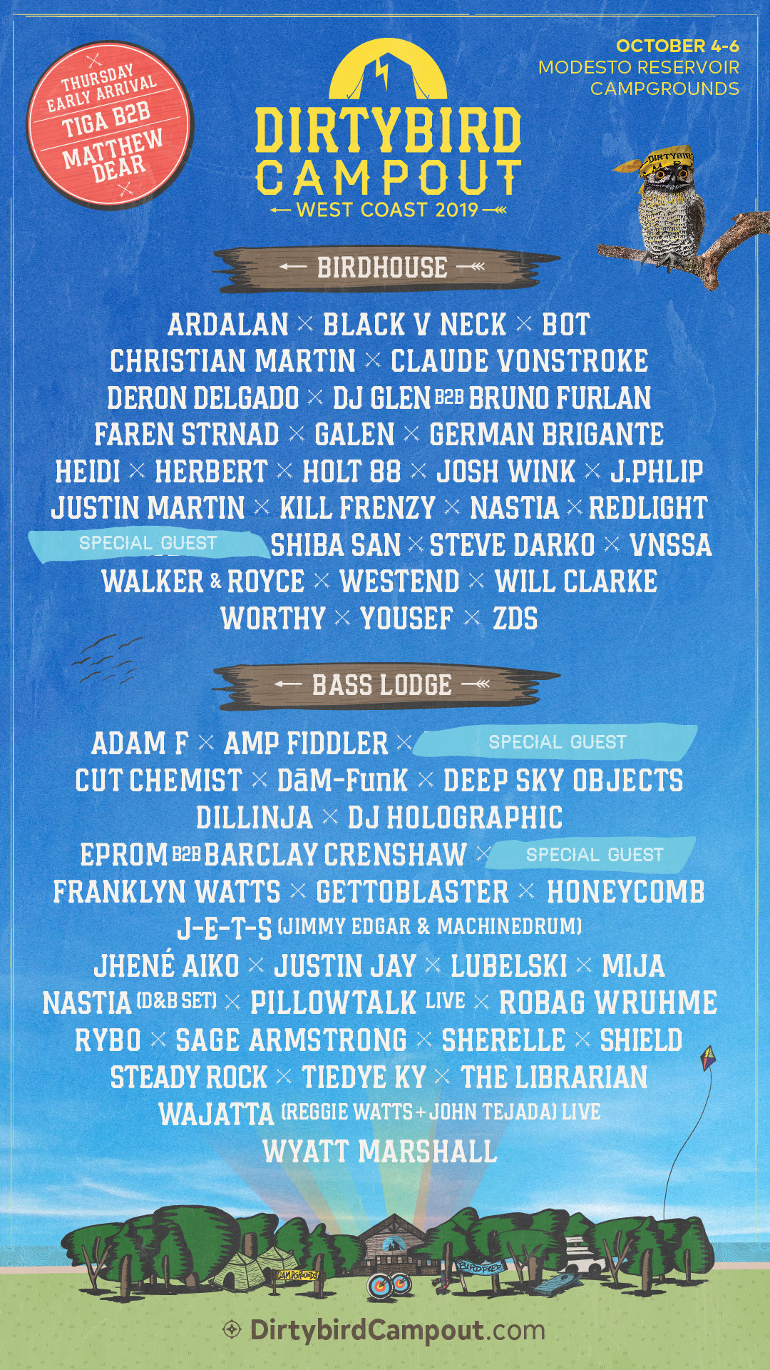 Dirtybird Campout West 2019 Lineup