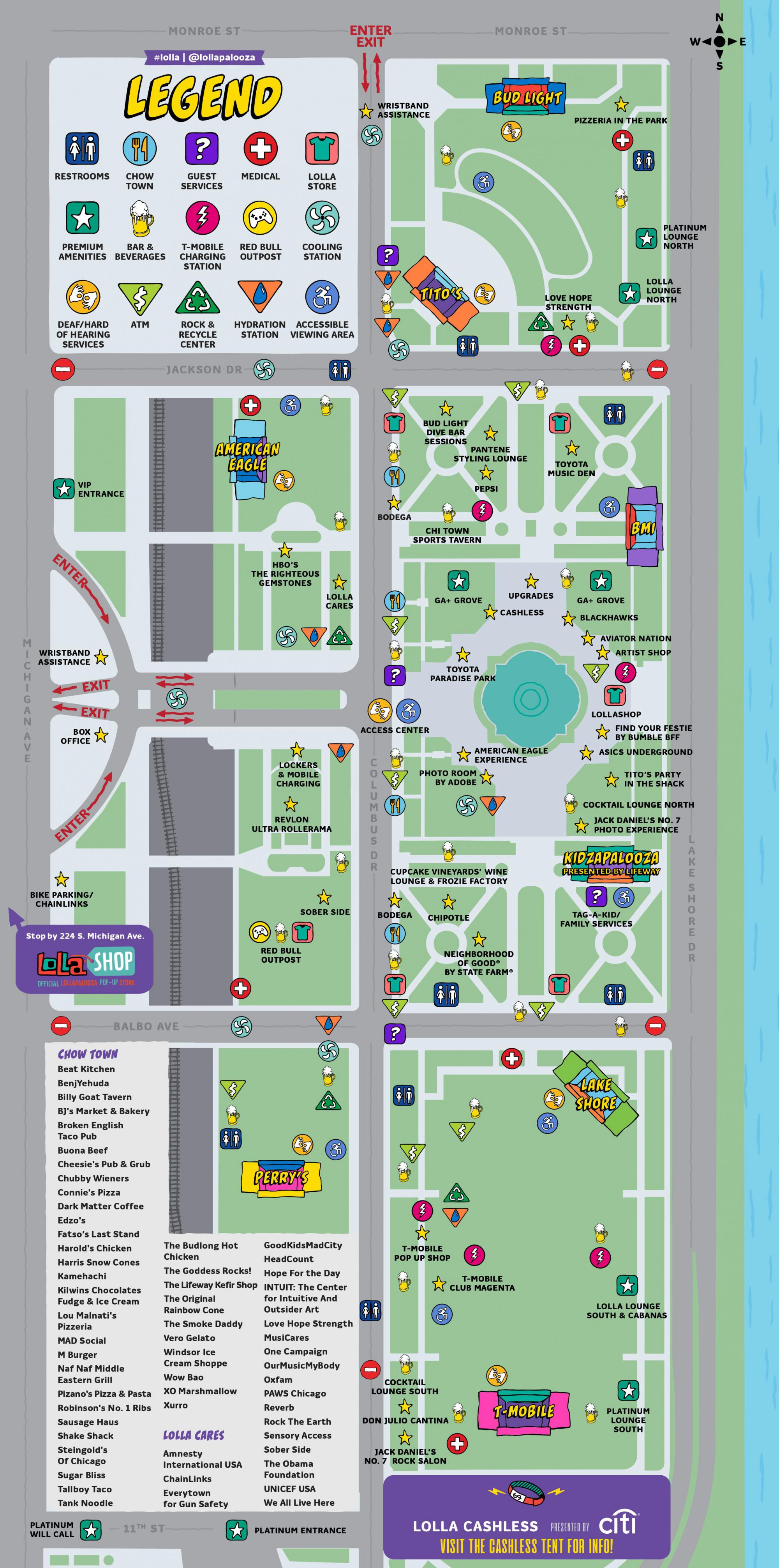 Lollapalooza 2019 Map