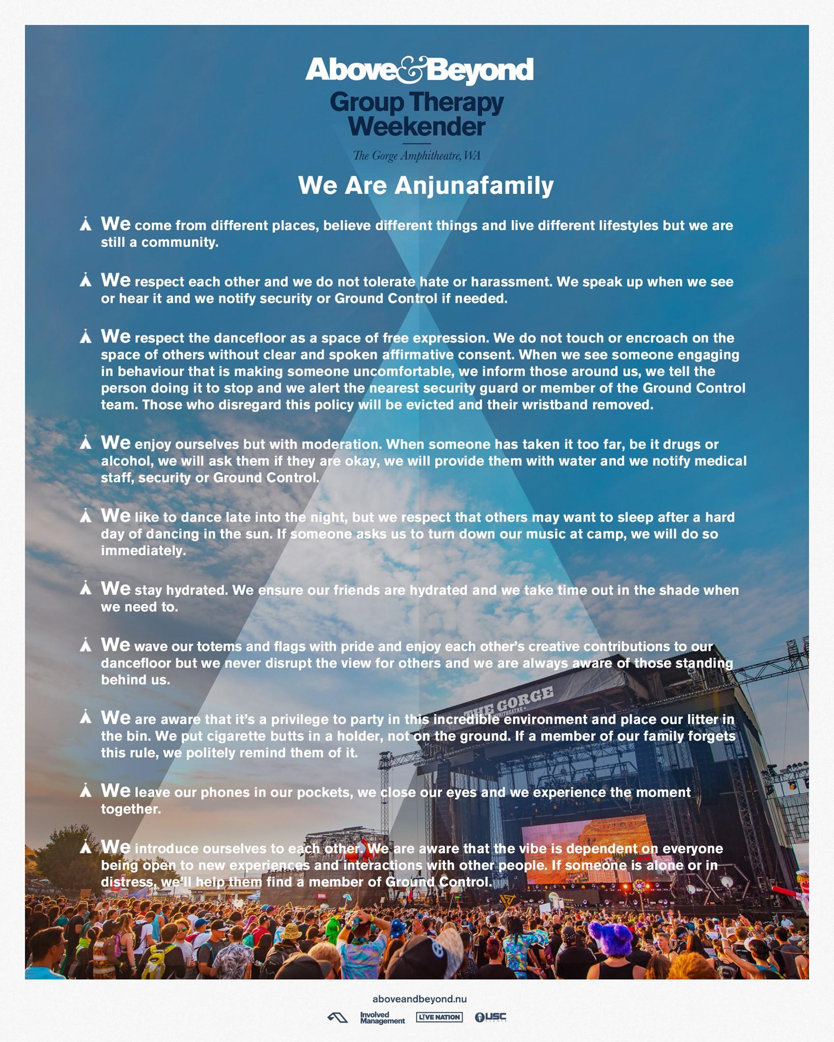 Group Therapy Weekender 2019 Anjunafamily Manifesto