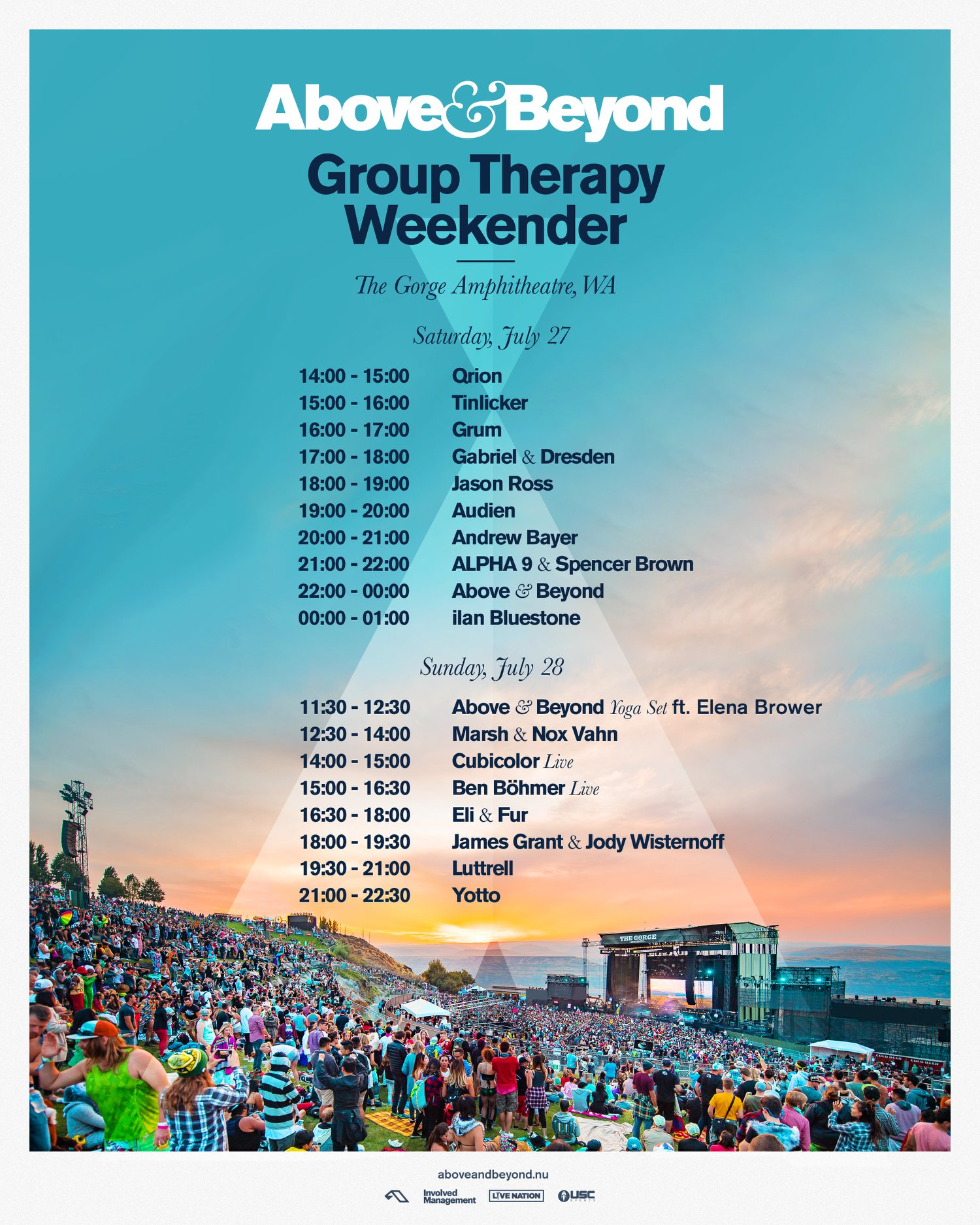 Group Therapy Weekender 2019 Set Times