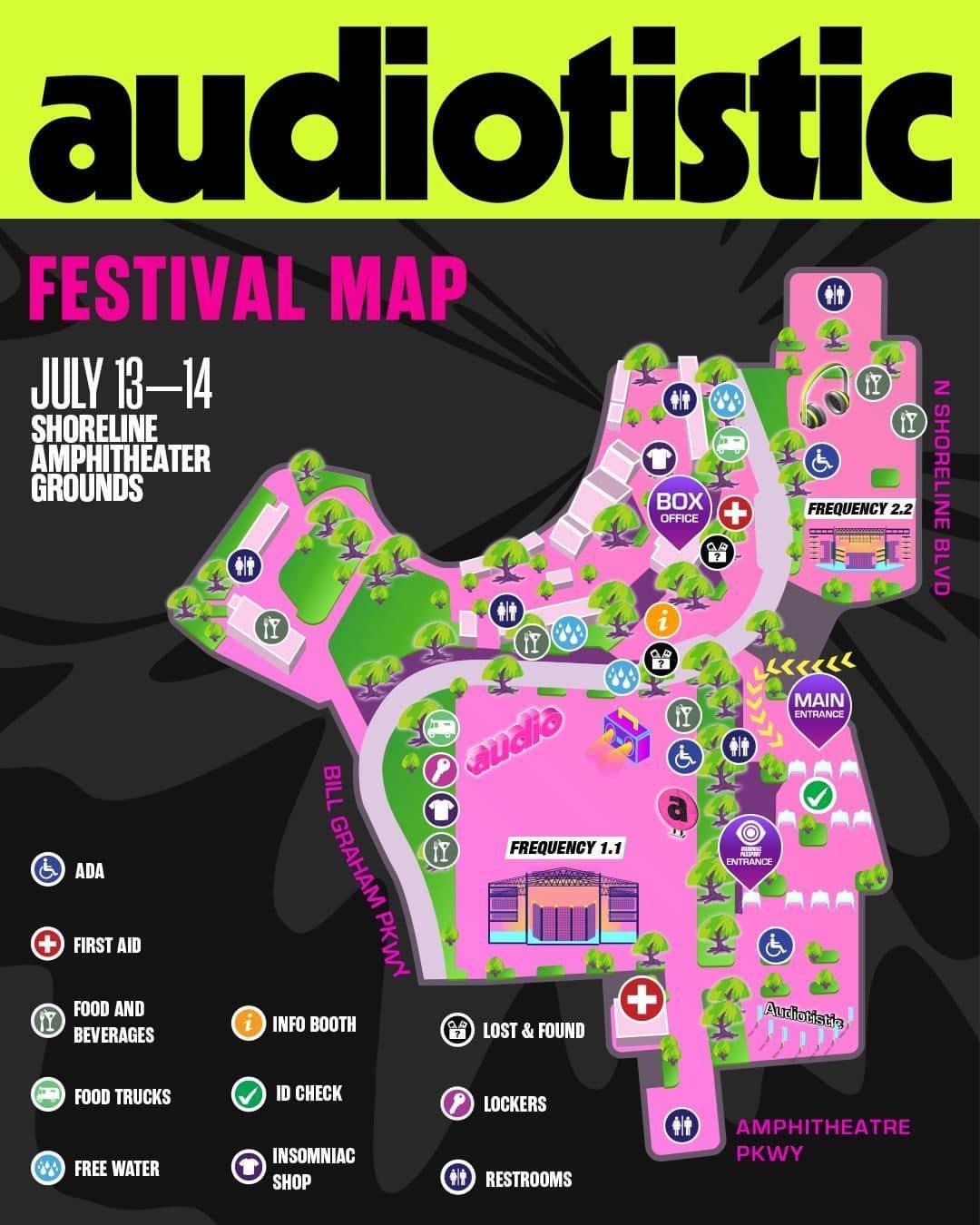 Audiotistic Bay Area 2019 Festival Map