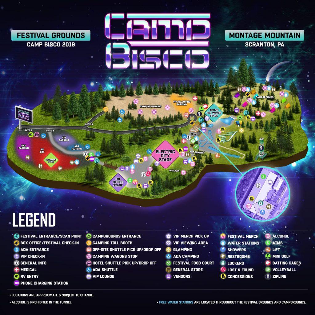 Camp Bisco 2019 Festival Map