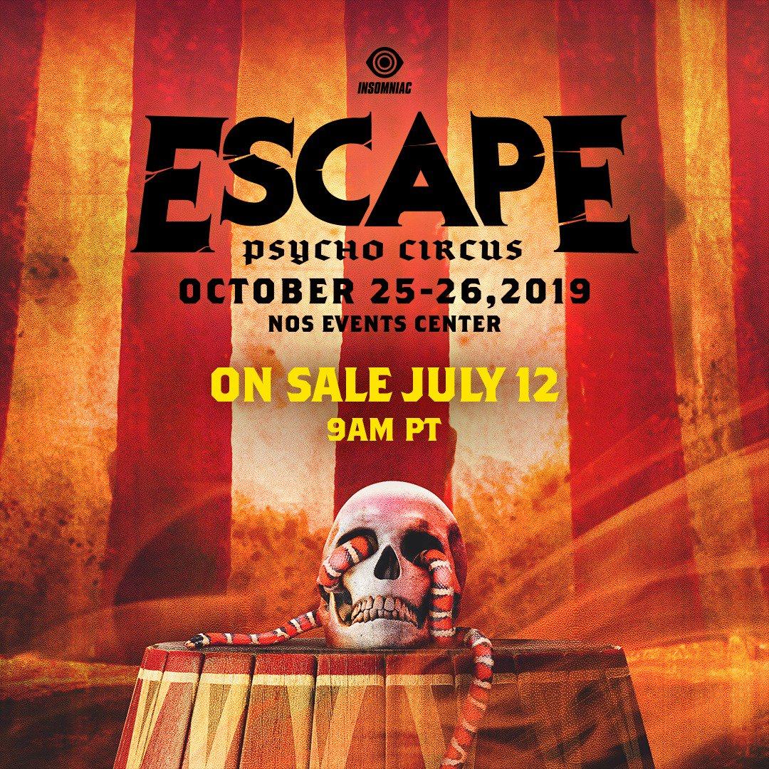 Escape: Psycho Circus 2019 Tickets