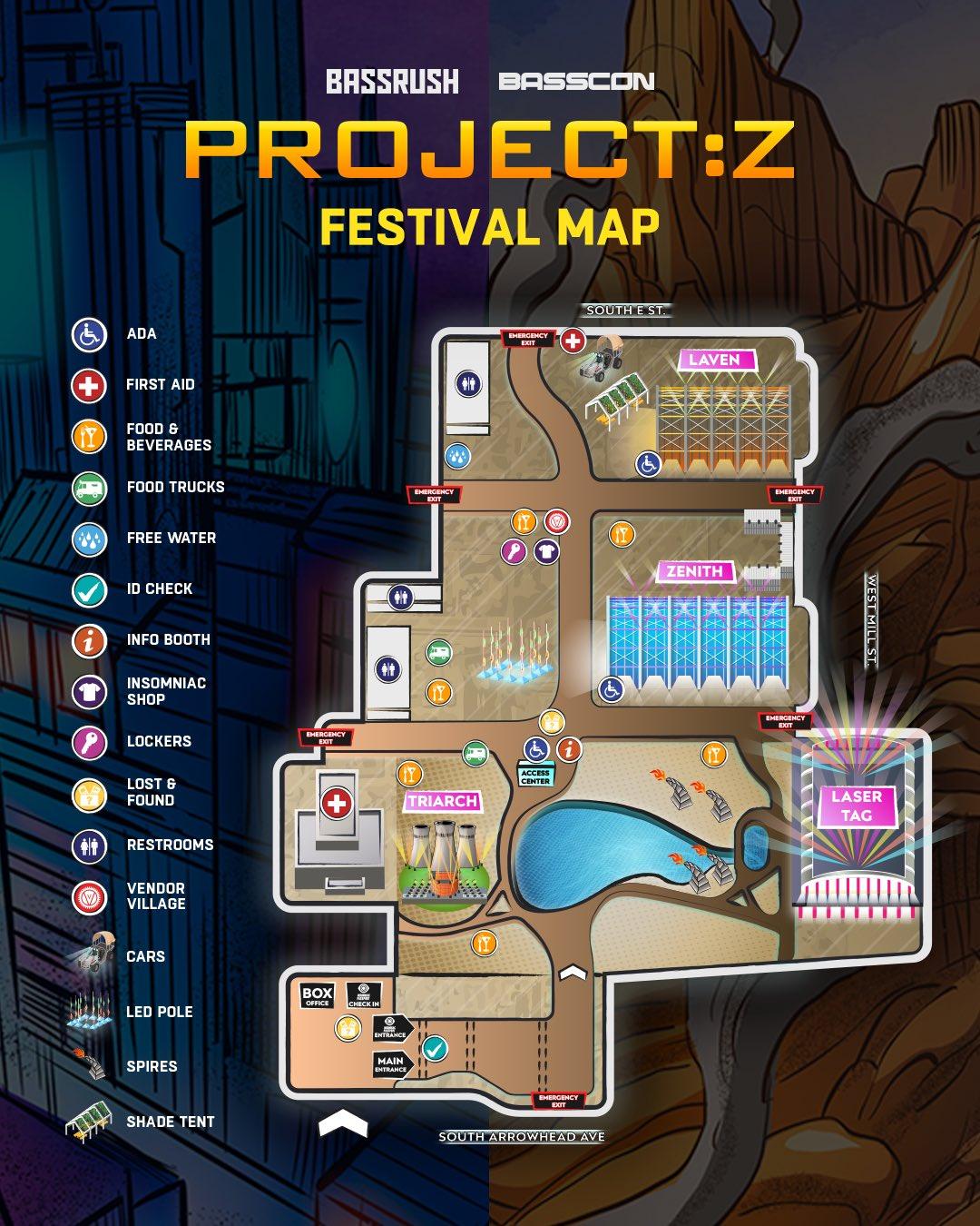 Project Z 2019 Festival Map