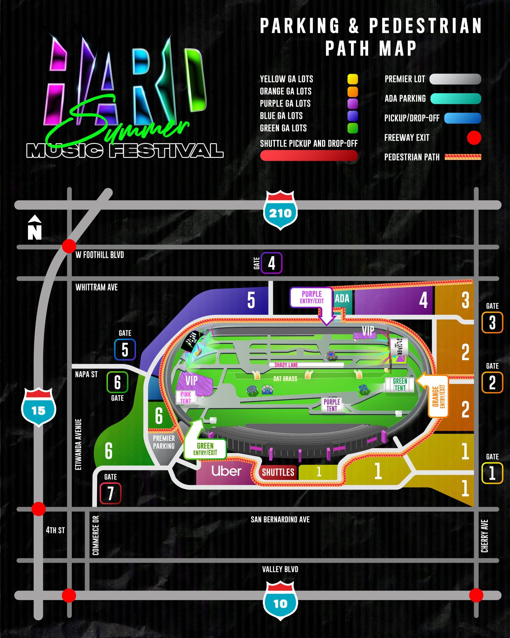 HARD Summer 2019 Parking Map