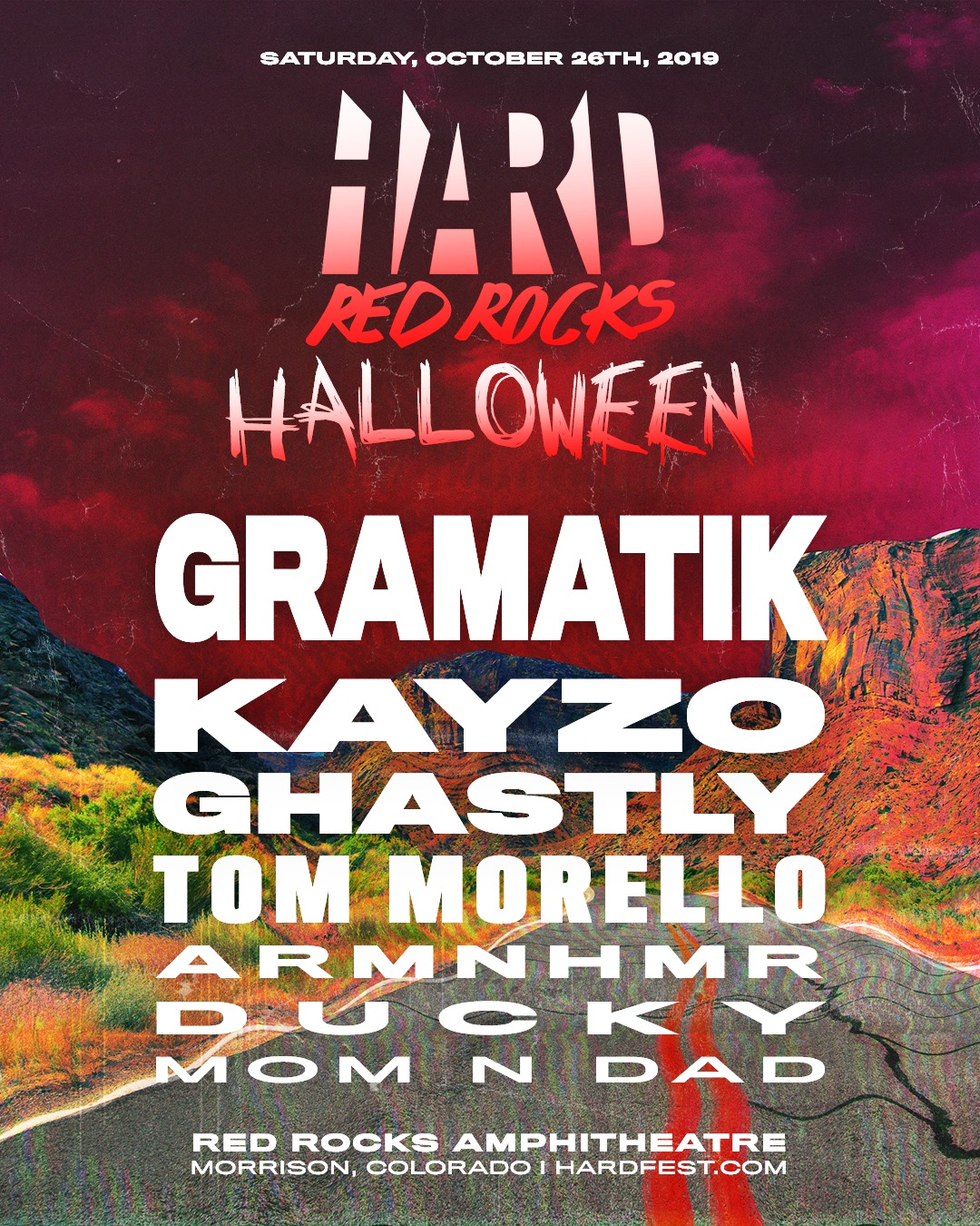 HARD Red Rocks 2019 Lineup