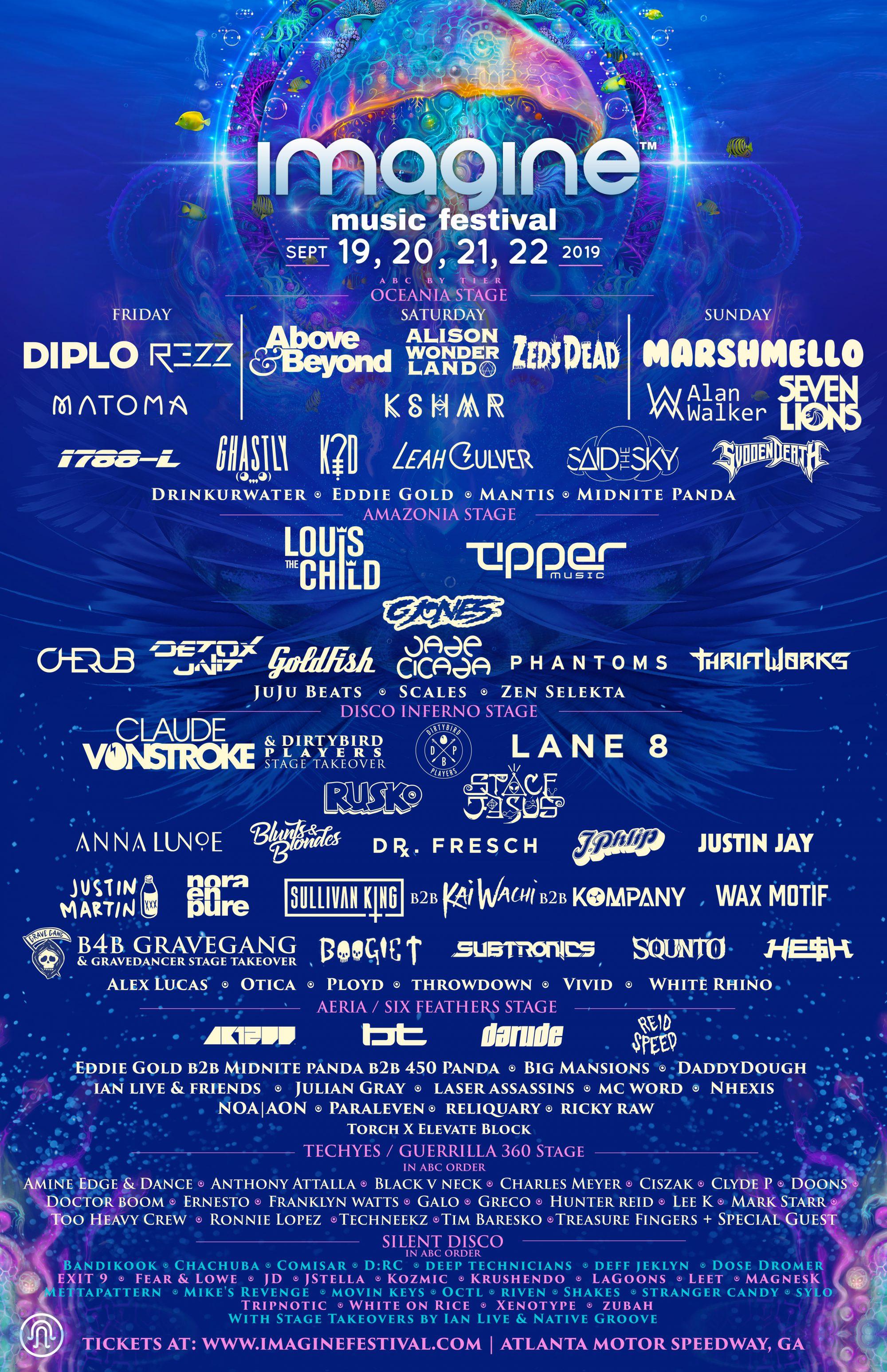 Imagine Music Festival 2019 Full Lineup