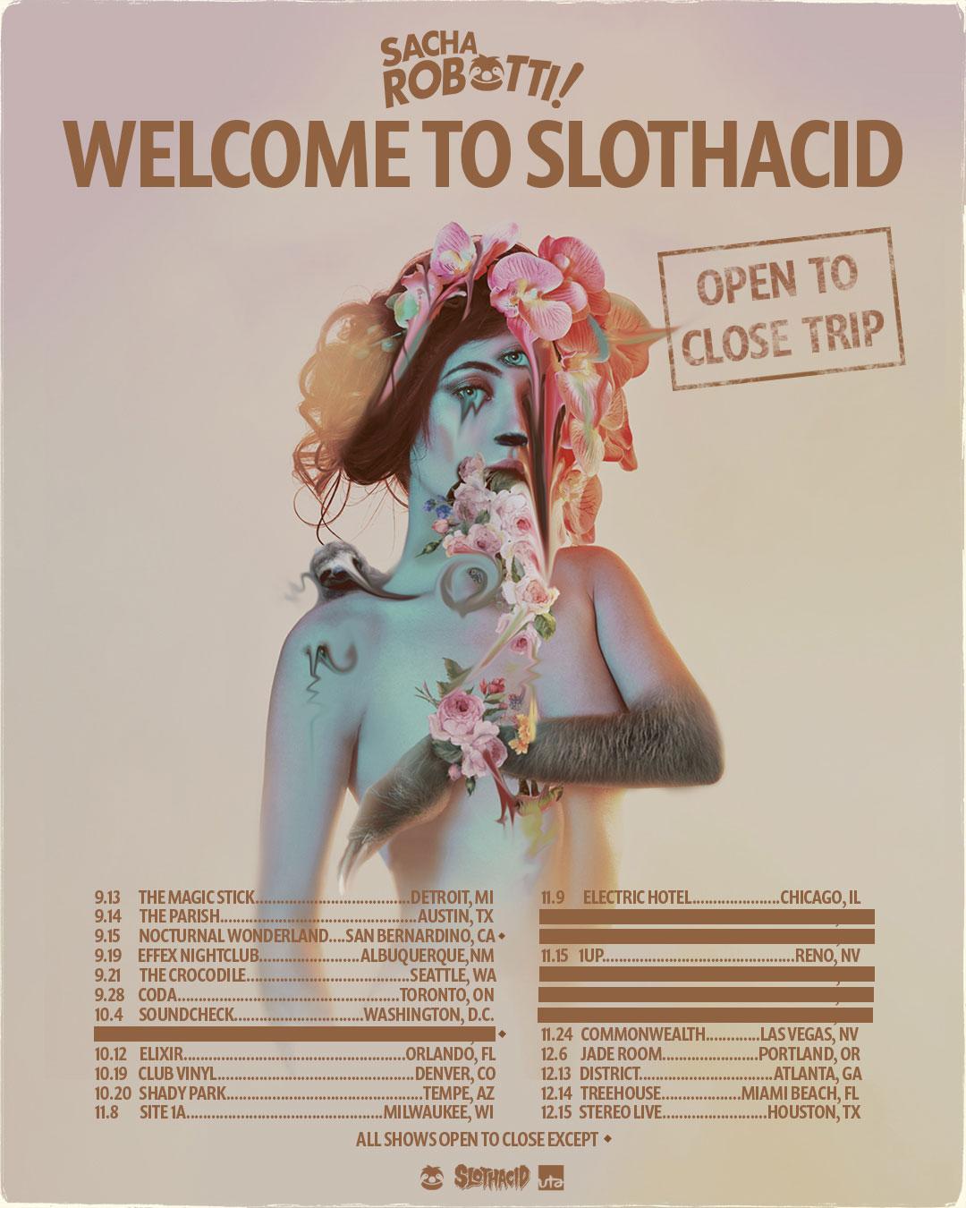 Sacha Robotti Welcome to Slothacid Tour