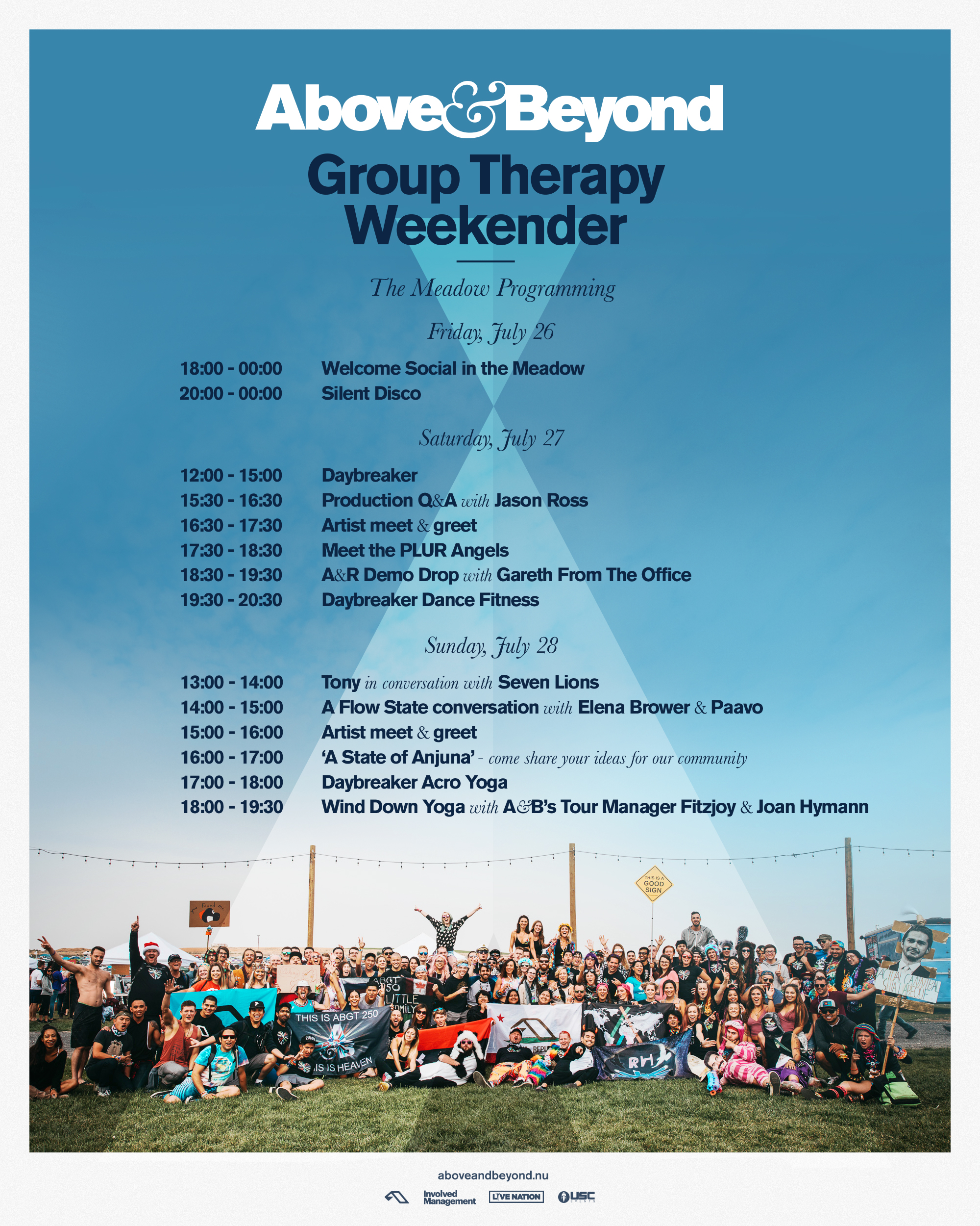 Group Therapy Weekender 2019 The Meadow Set Times