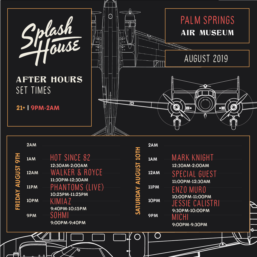 Splash House August 2019 After Hours Set Times