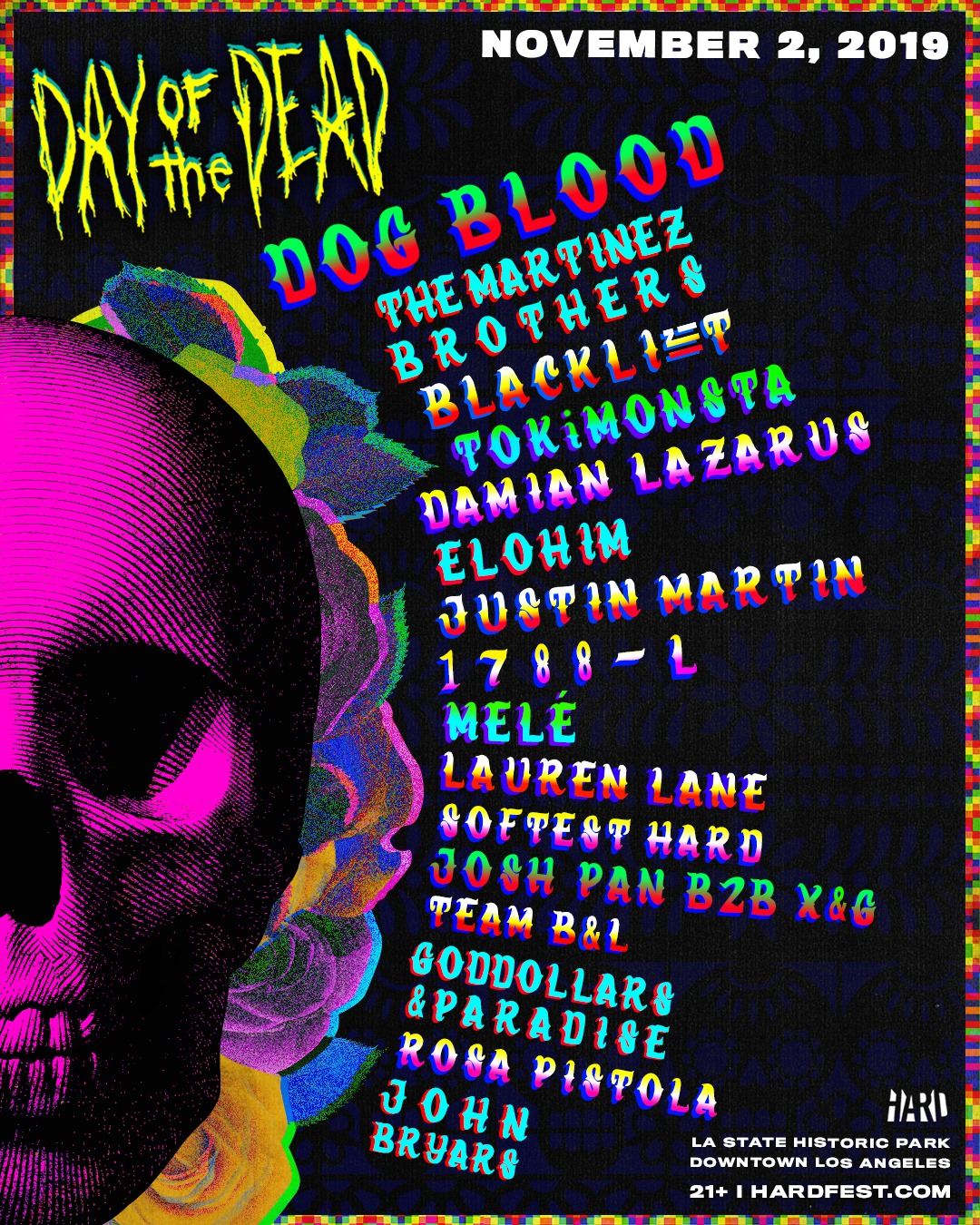 HARD Day of the Dead 2019 Lineup