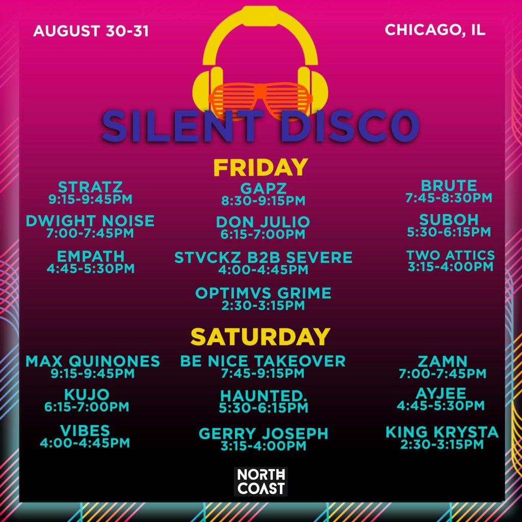 Silent Disco Set Times