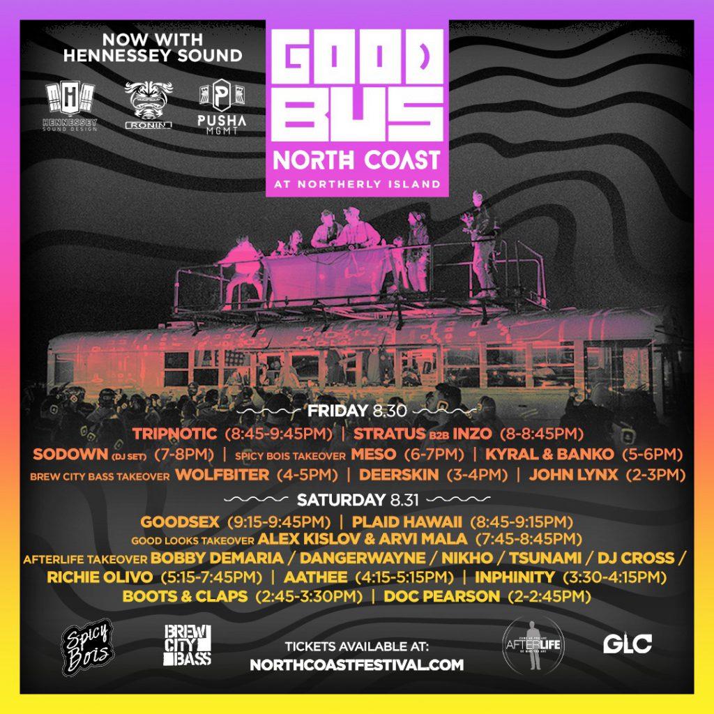 North Coast GoodBus 2019 Set Times