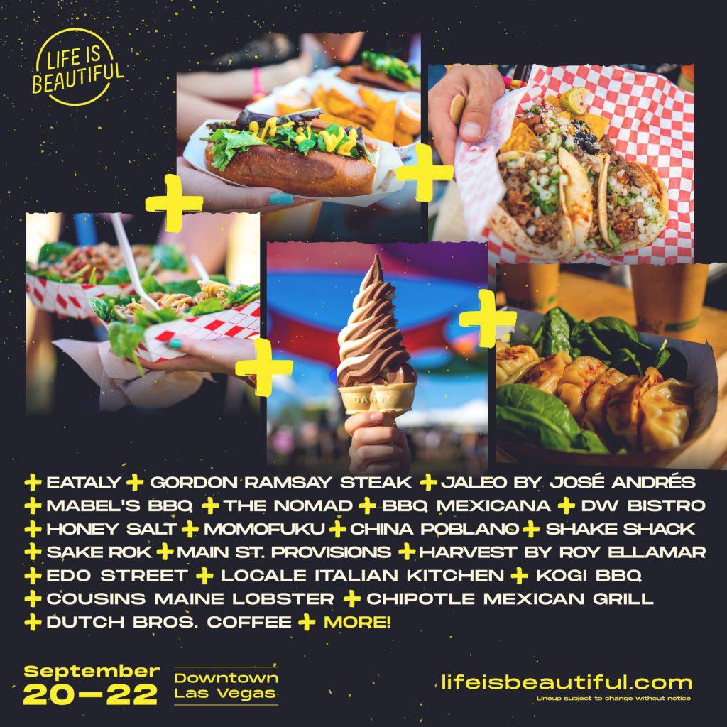 Culinary Lineup - Life is Beaitufl 2019