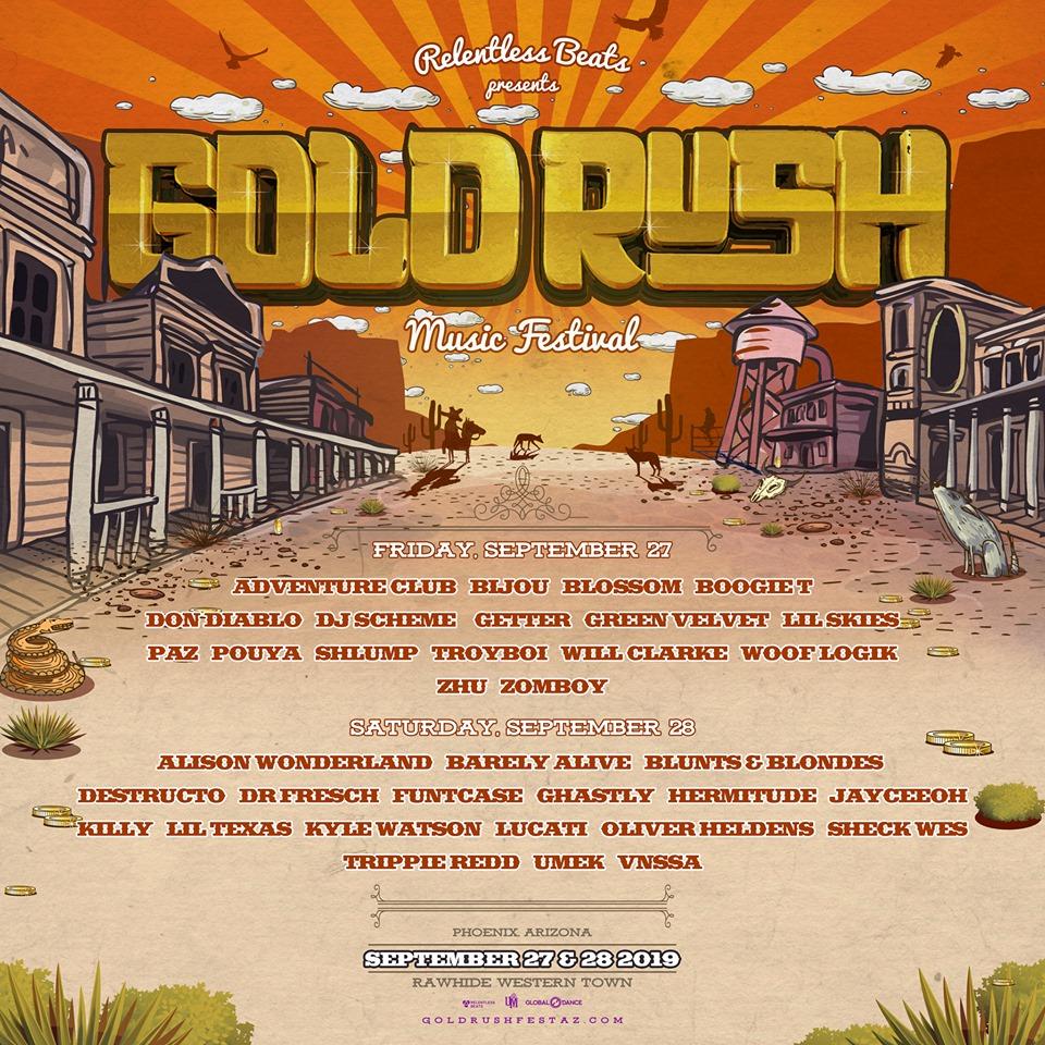 Goldrush Music Festival Daily Lineups