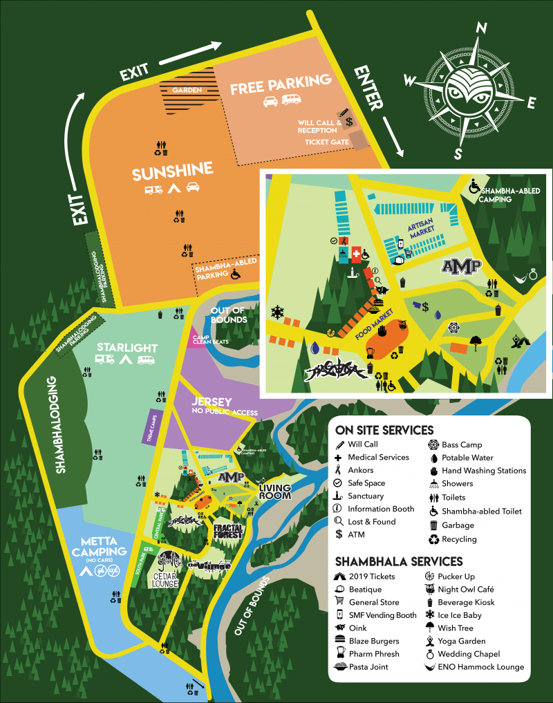 Shambhala Music Festival 2019 Map
