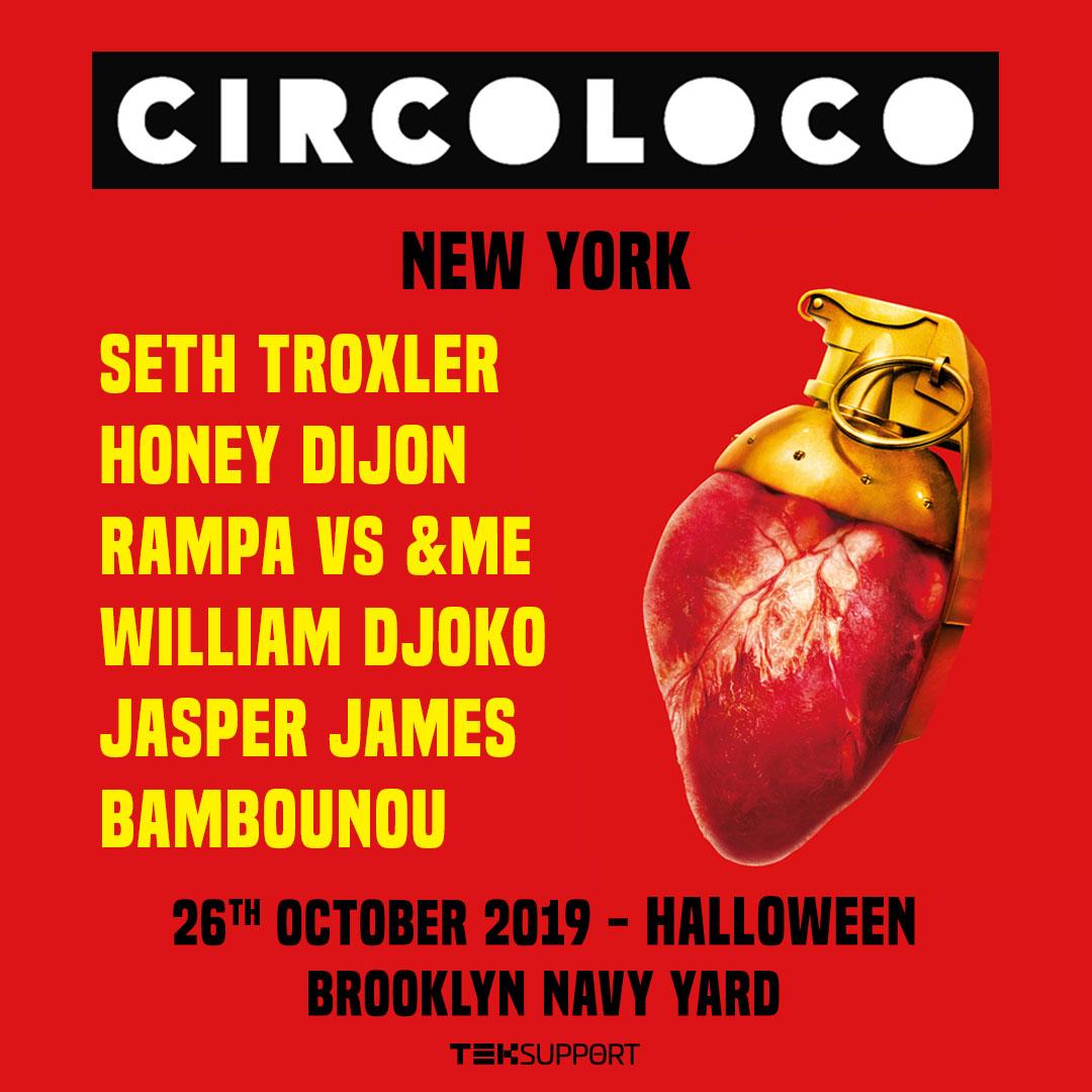 Circoloco NYC Halloween 2019 Lineup