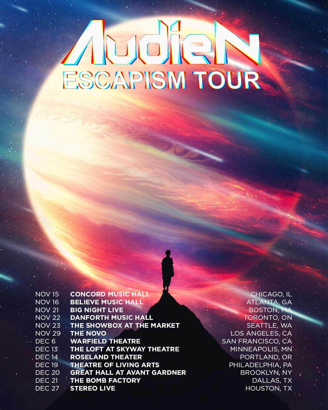 Audien Escapism Tour