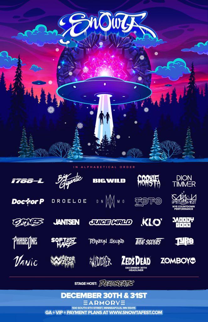 Snowta NYE 2019 Lineup