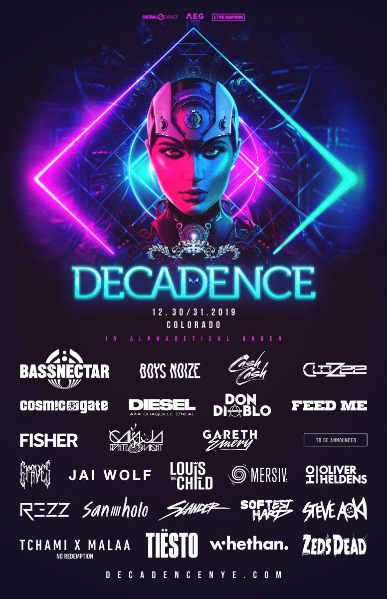 Decadence Colorado 2019 Lineup
