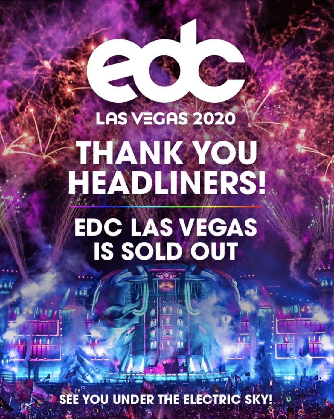 EDC Las Vegas 2020 Sold Out