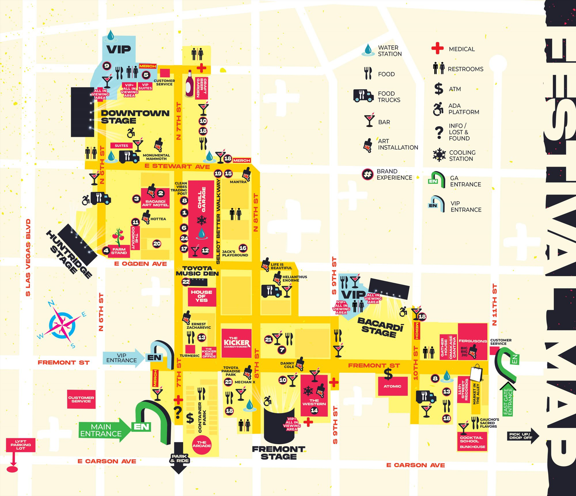 Life is Beautiful 2019 Festival Map